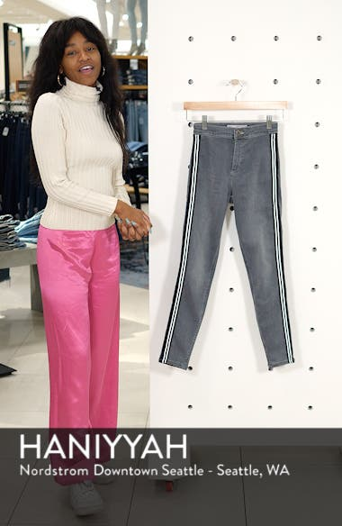 Joni Side Stripe Crop Skinny Jeans, sales video thumbnail