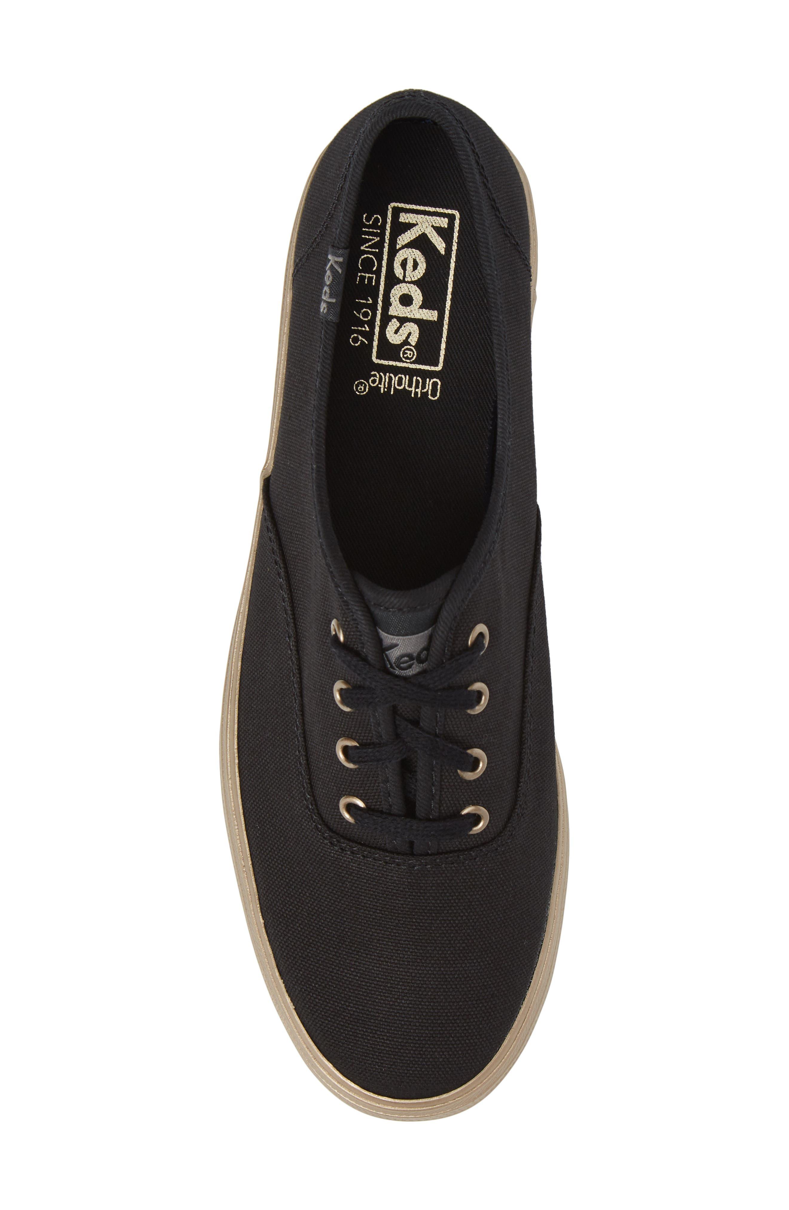 Triple Shimmer Platform Sneaker,                             Alternate thumbnail 5, color,                             002