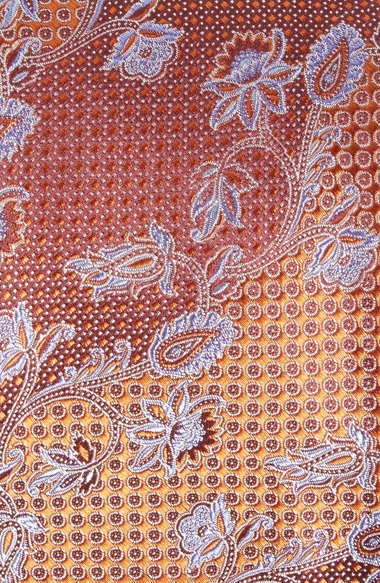 Demarco Floral Silk Tie,                             Alternate thumbnail 2, color,                             808