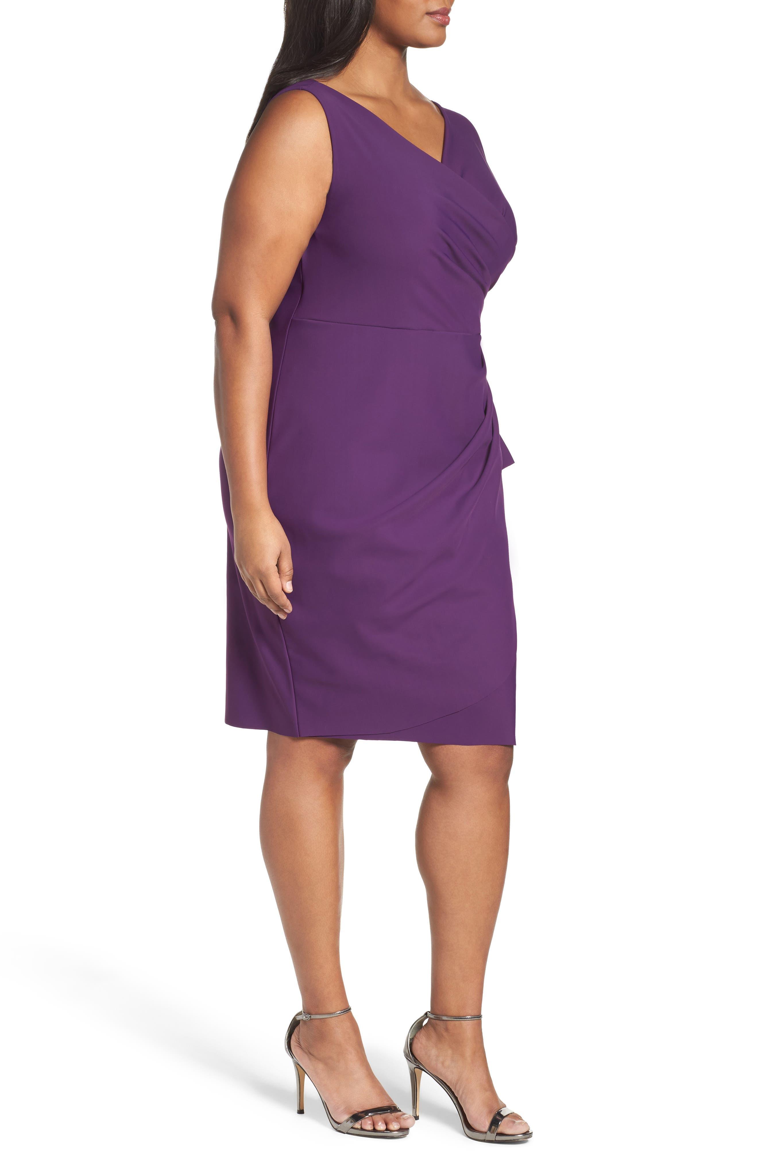 Embellished Surplice Sheath Dress,                             Alternate thumbnail 20, color,
