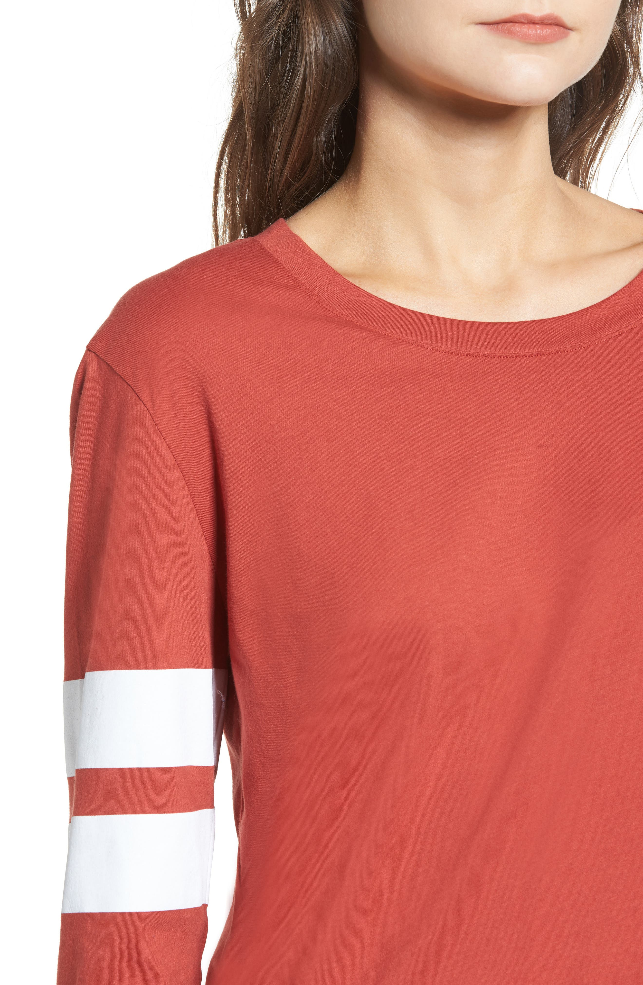 Varsity Stripe Cotton Tee,                             Alternate thumbnail 72, color,