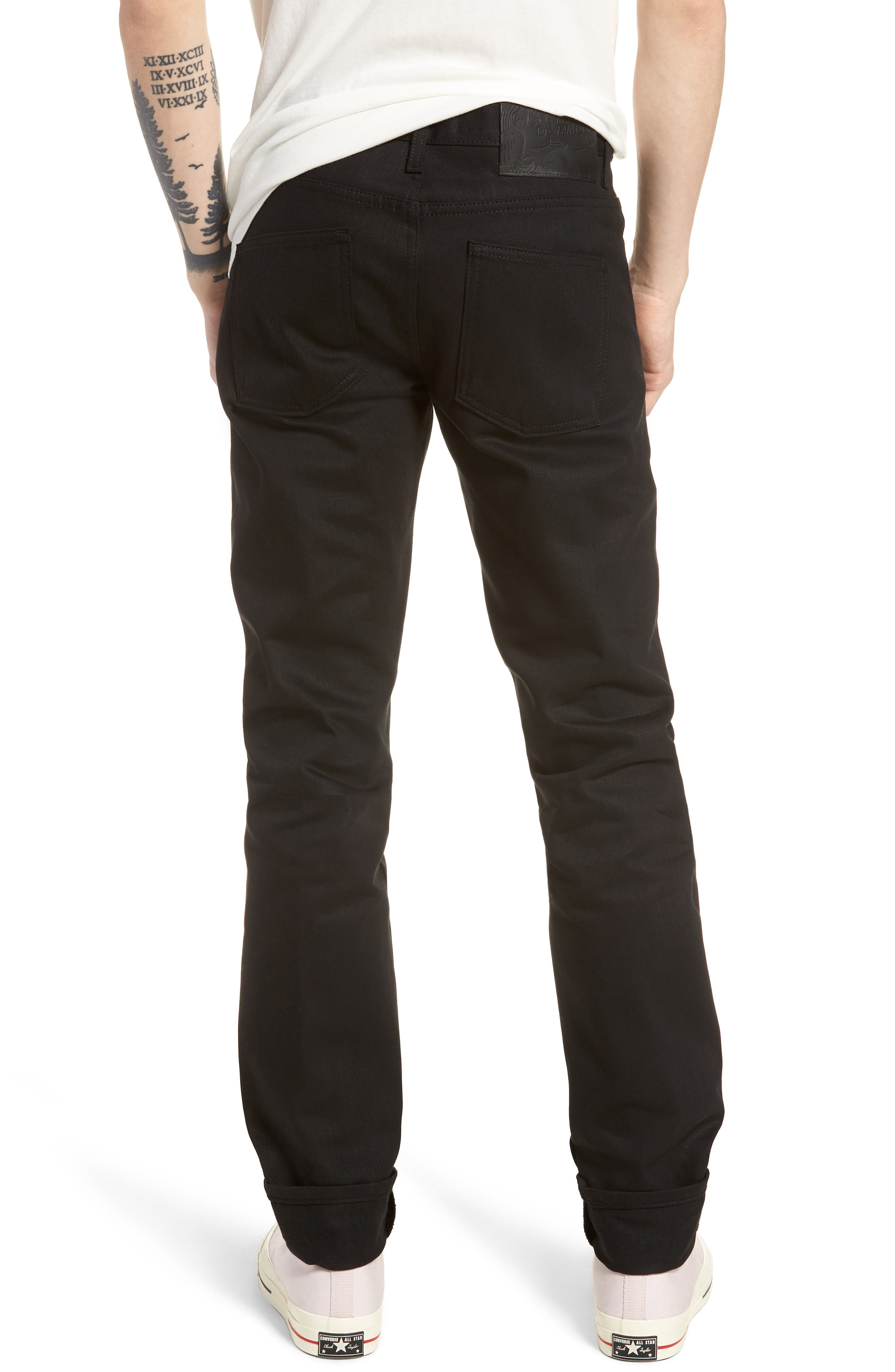 Naked & Famous Super Skinny Guy Skinny Fit Jeans,                             Alternate thumbnail 2, color,                             SOLID BLACK SELVEDGE