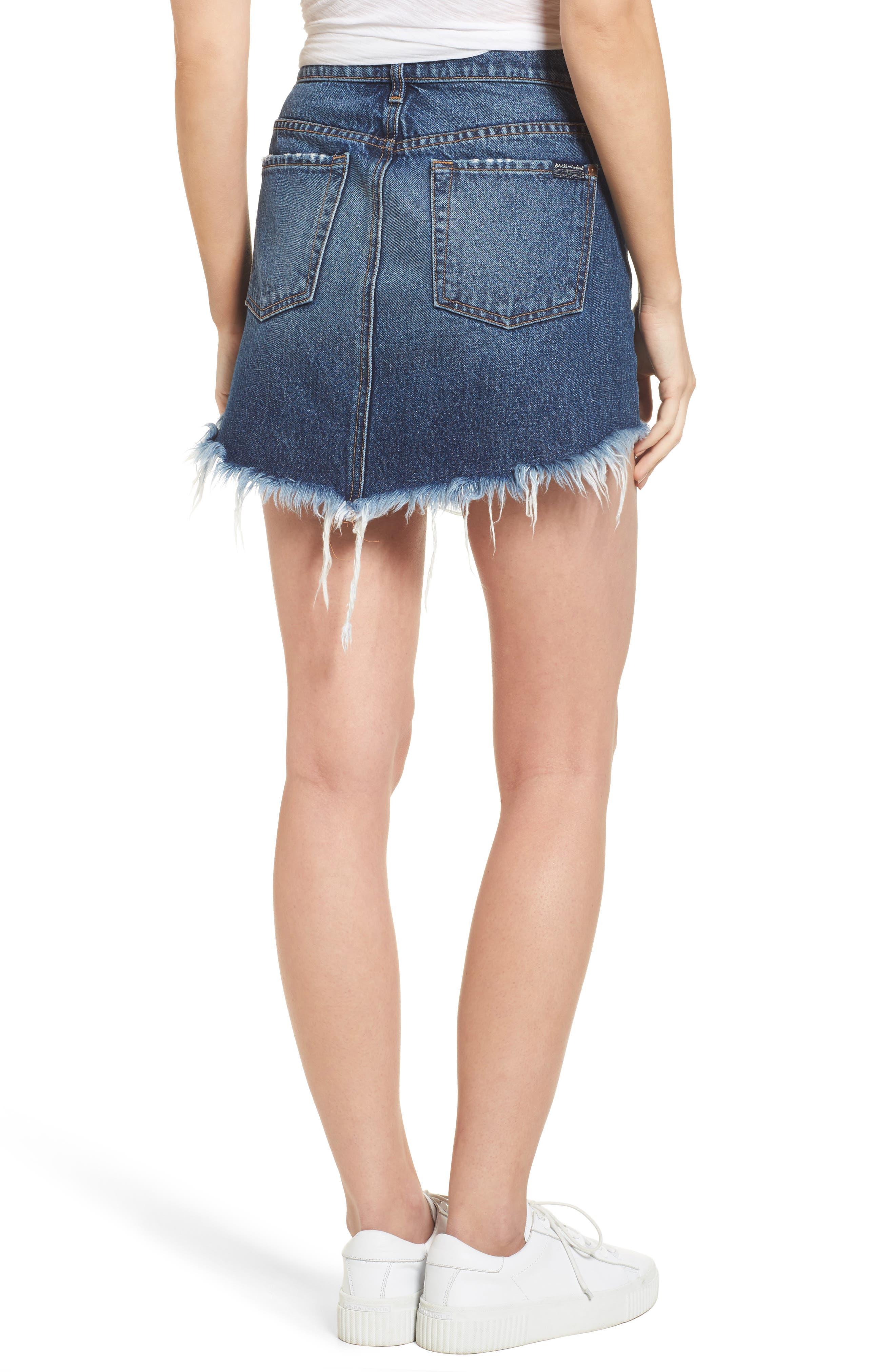 Denim Miniskirt,                             Alternate thumbnail 2, color,                             400