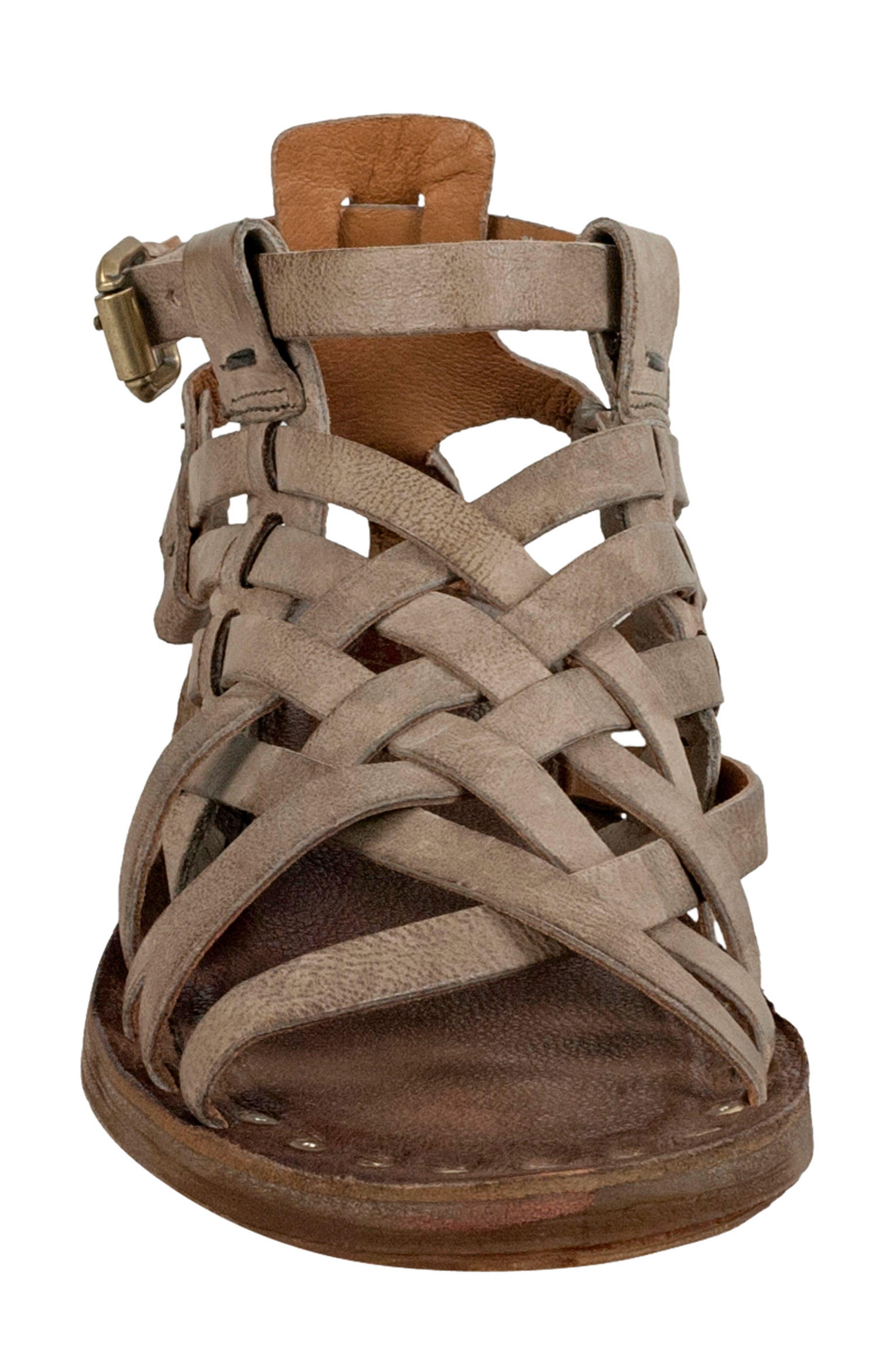 Ralston Gladiator Sandal,                             Alternate thumbnail 4, color,                             TAUPE