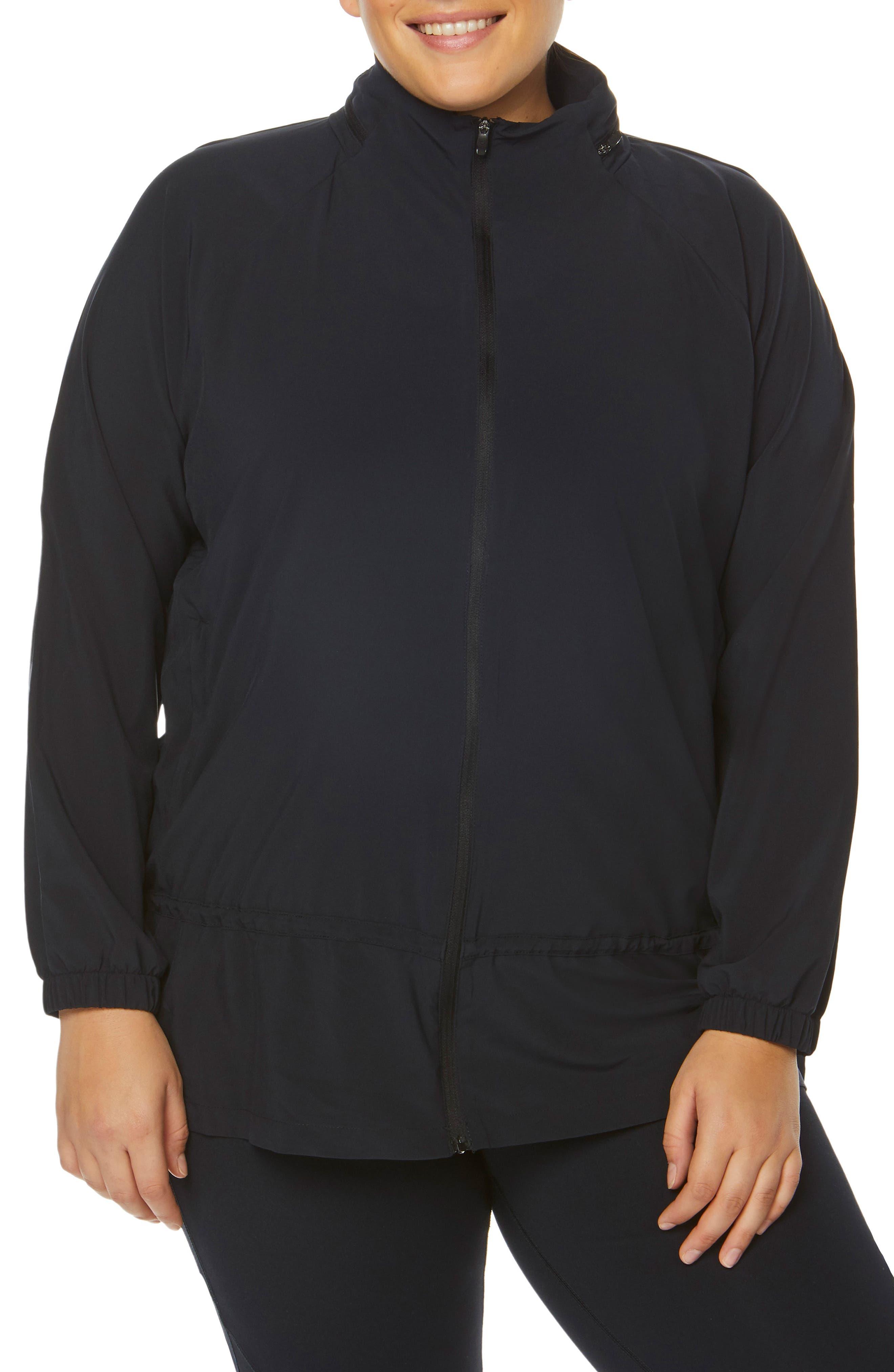Plus Size Shape Activewear Ghost Windbreaker Jacket