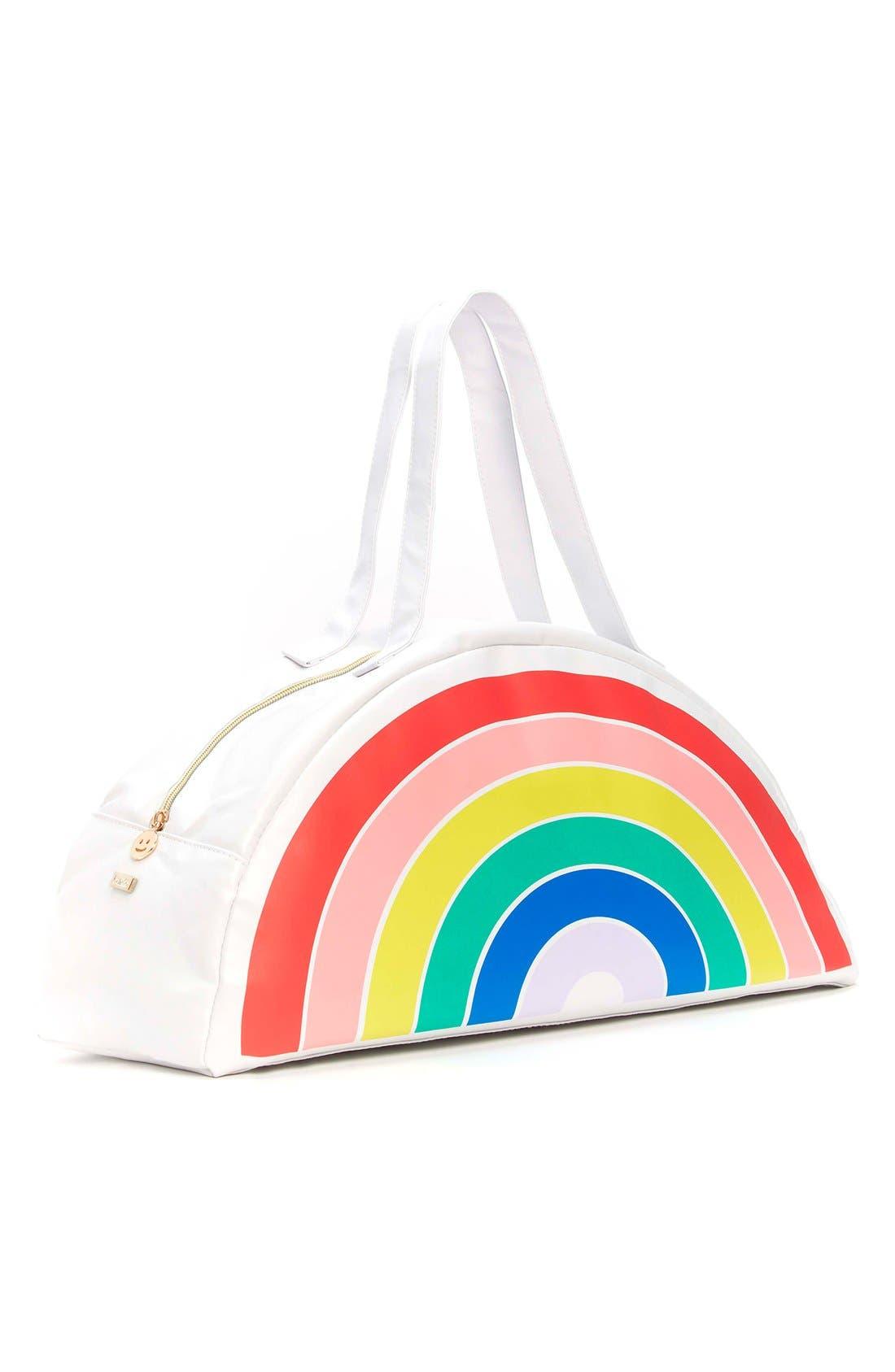Rainbow Cooler Bag, Main, color, 100