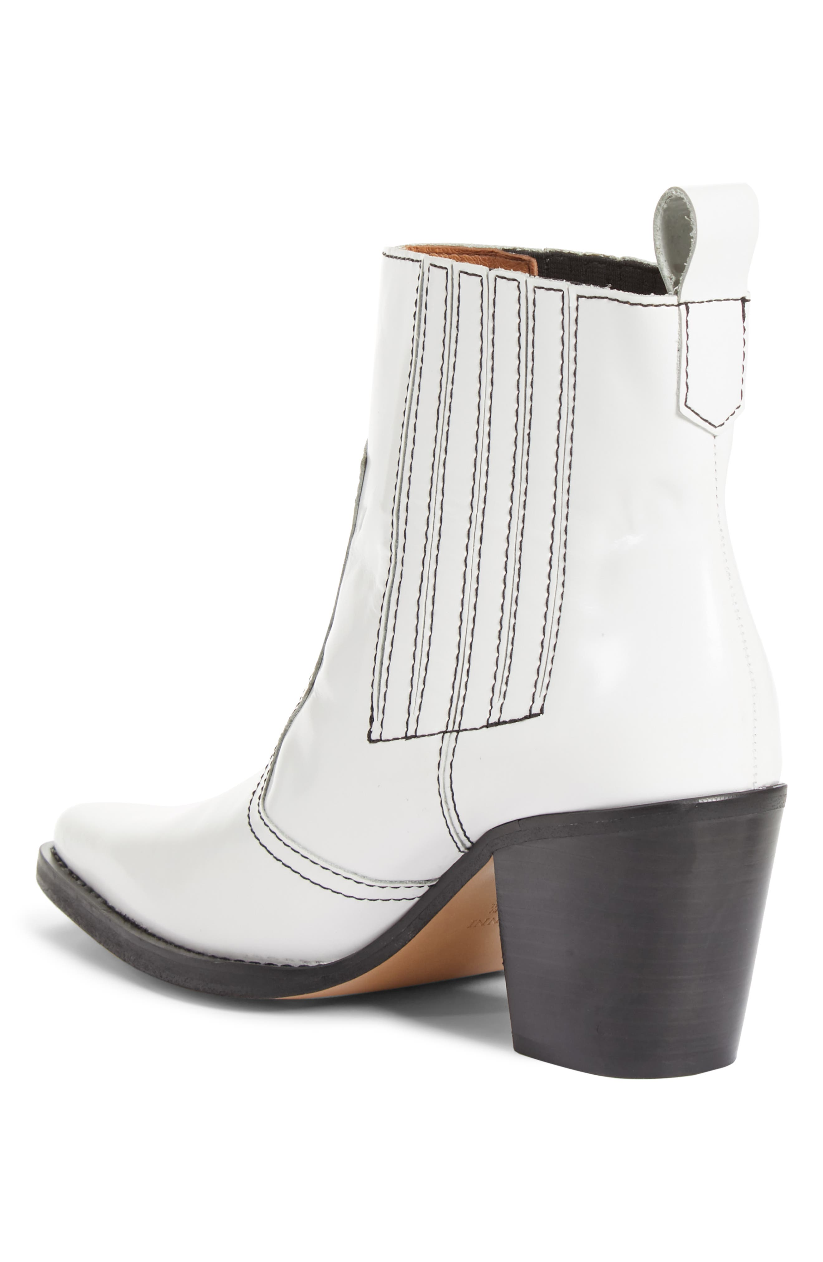 Western Bootie,                             Alternate thumbnail 2, color,                             BRIGHT WHITE 151