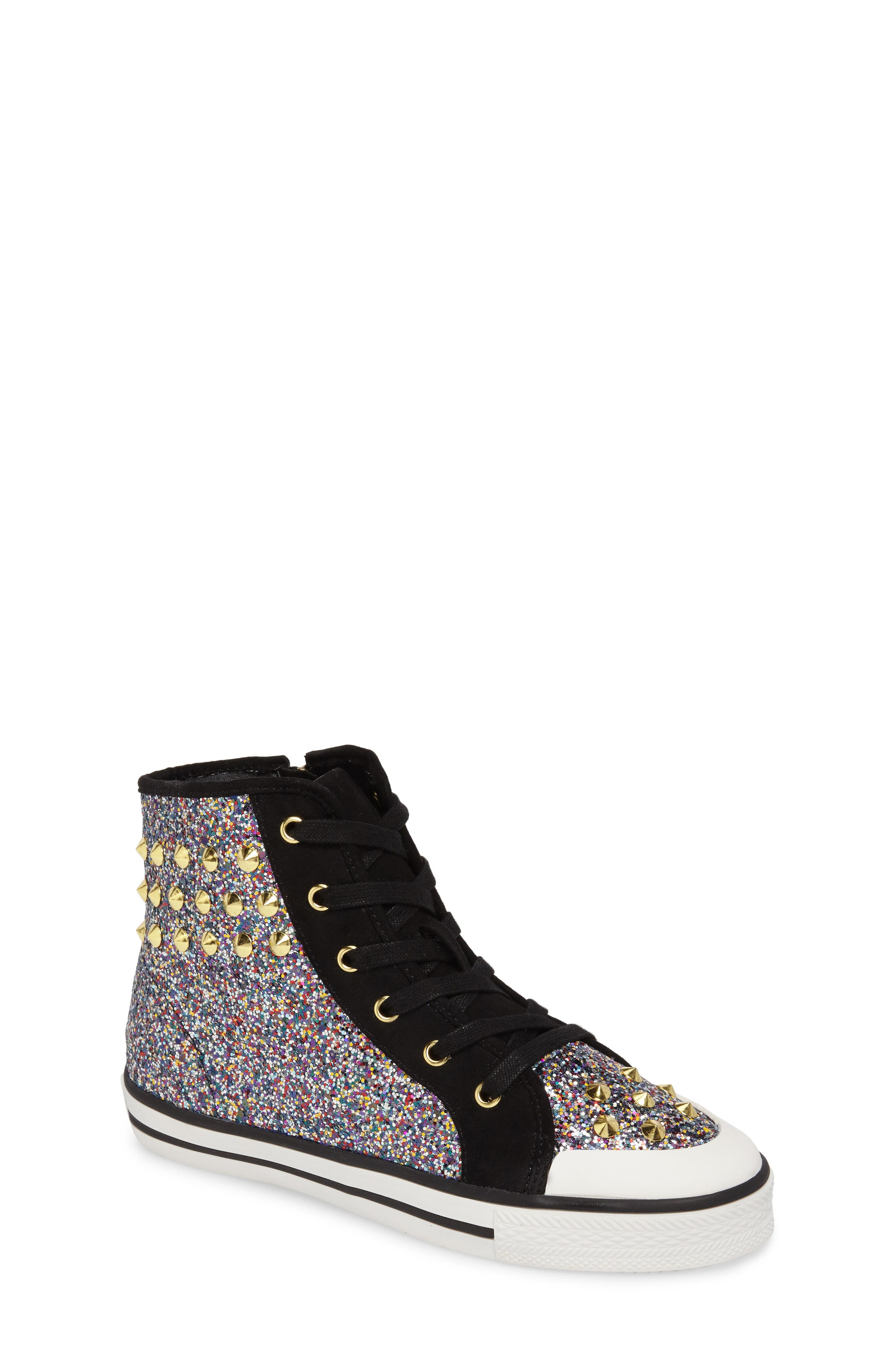 Lita Roe Glittery High Top Sneaker,                             Main thumbnail 1, color,                             003