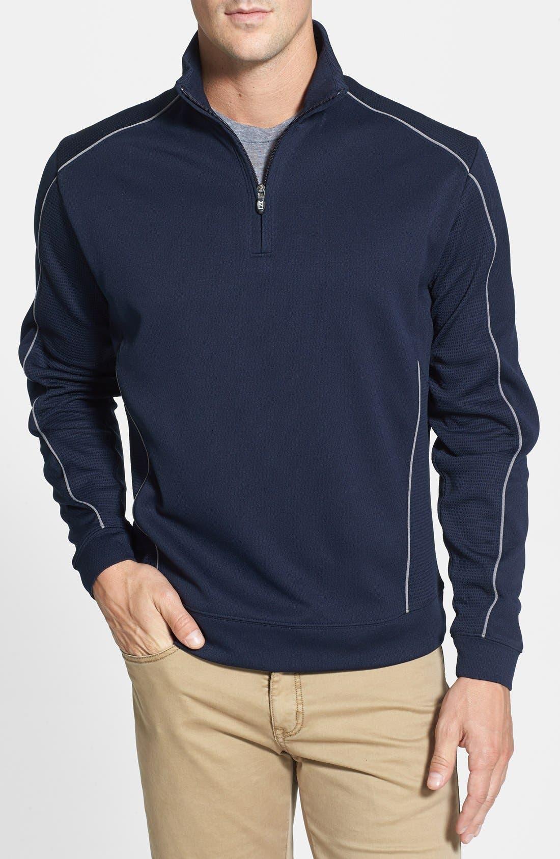 DryTec Half Zip Pullover,                             Main thumbnail 1, color,                             NAVY BLUE