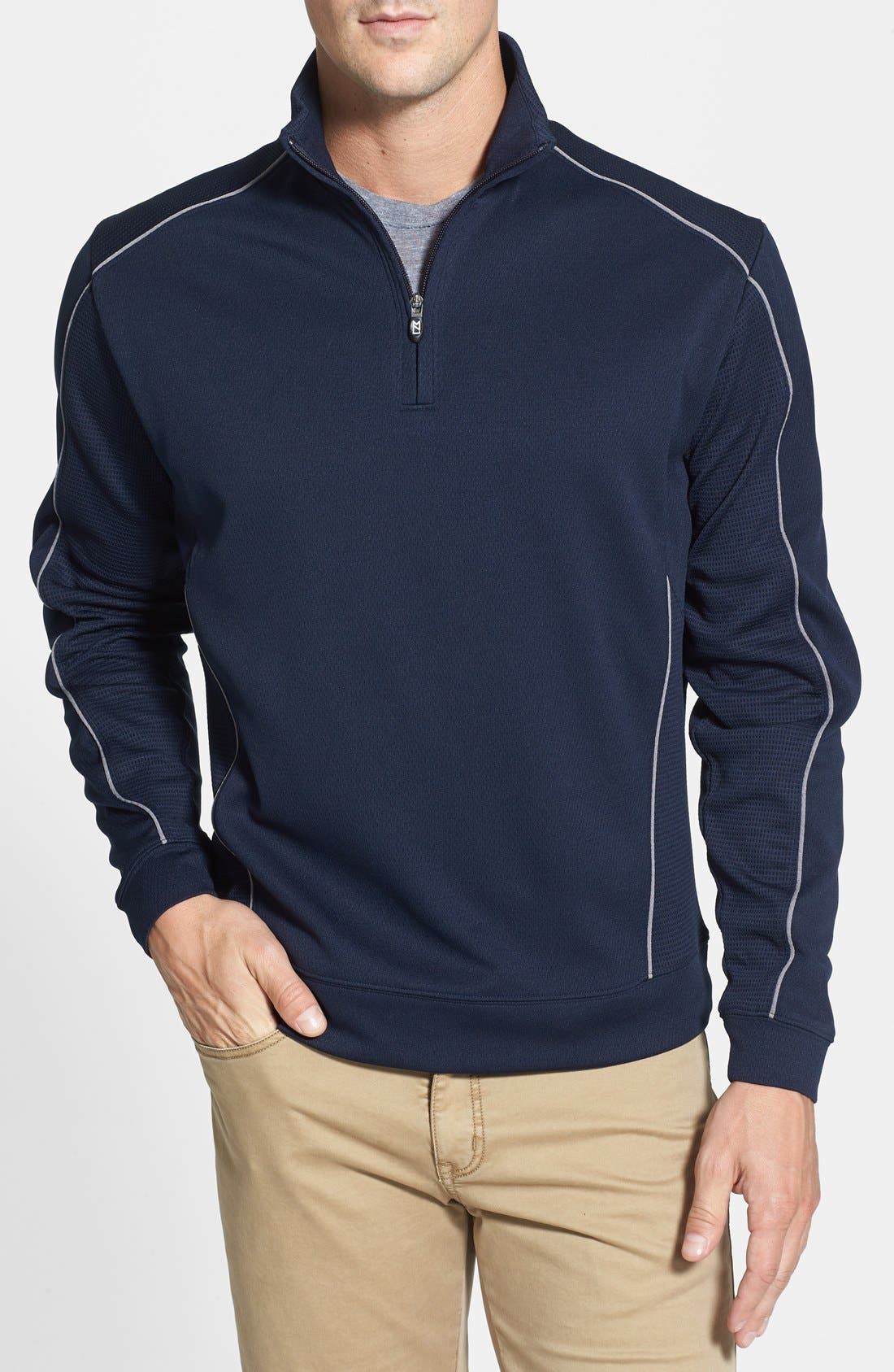 DryTec Half Zip Pullover,                         Main,                         color, NAVY BLUE