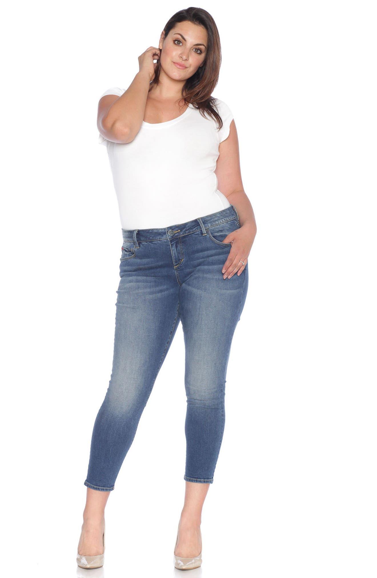 Skinny Ankle Jeans,                             Alternate thumbnail 4, color,                             462