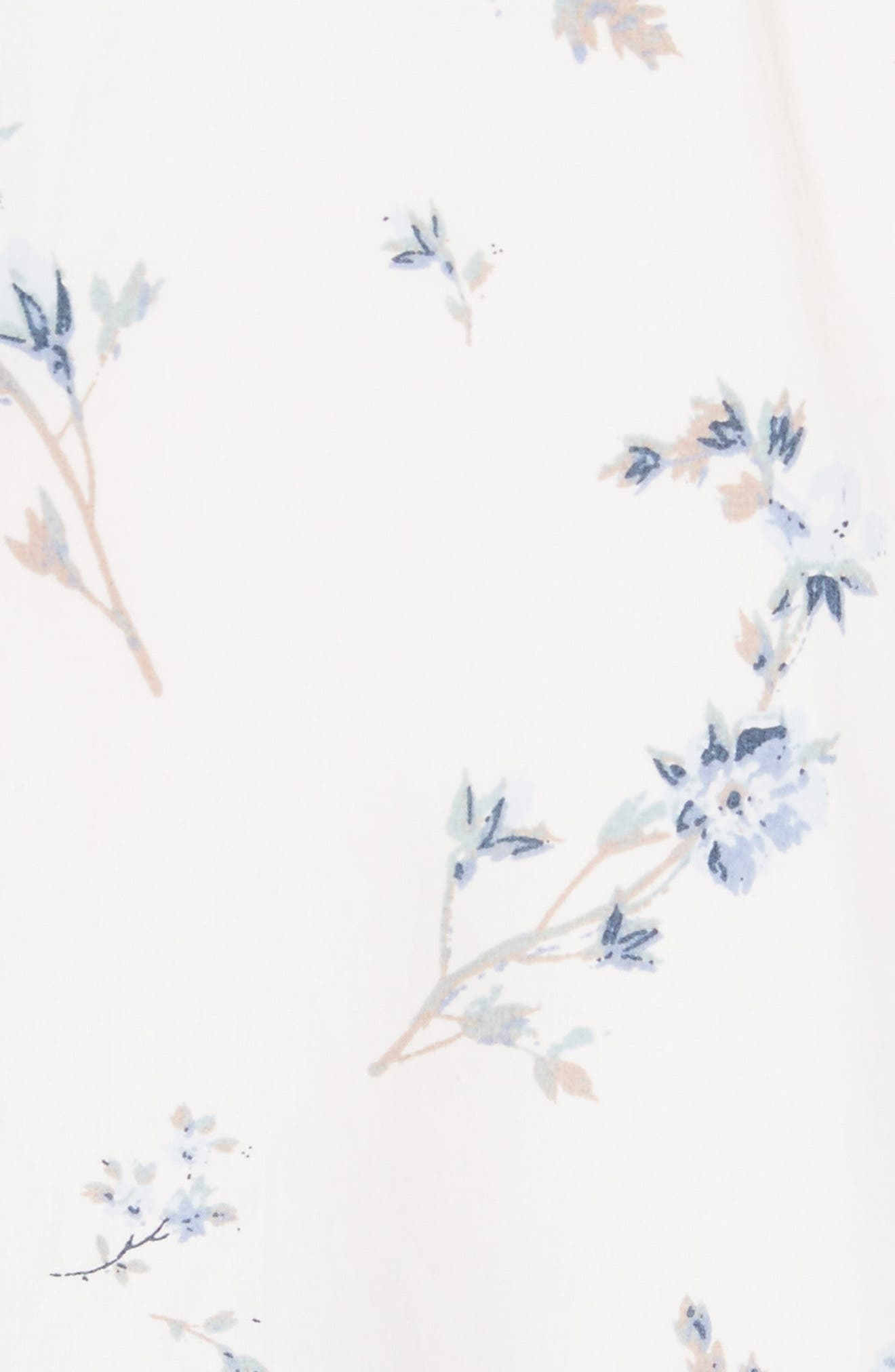 Francine Floral Cotton Poplin Dress,                             Alternate thumbnail 5, color,                             103