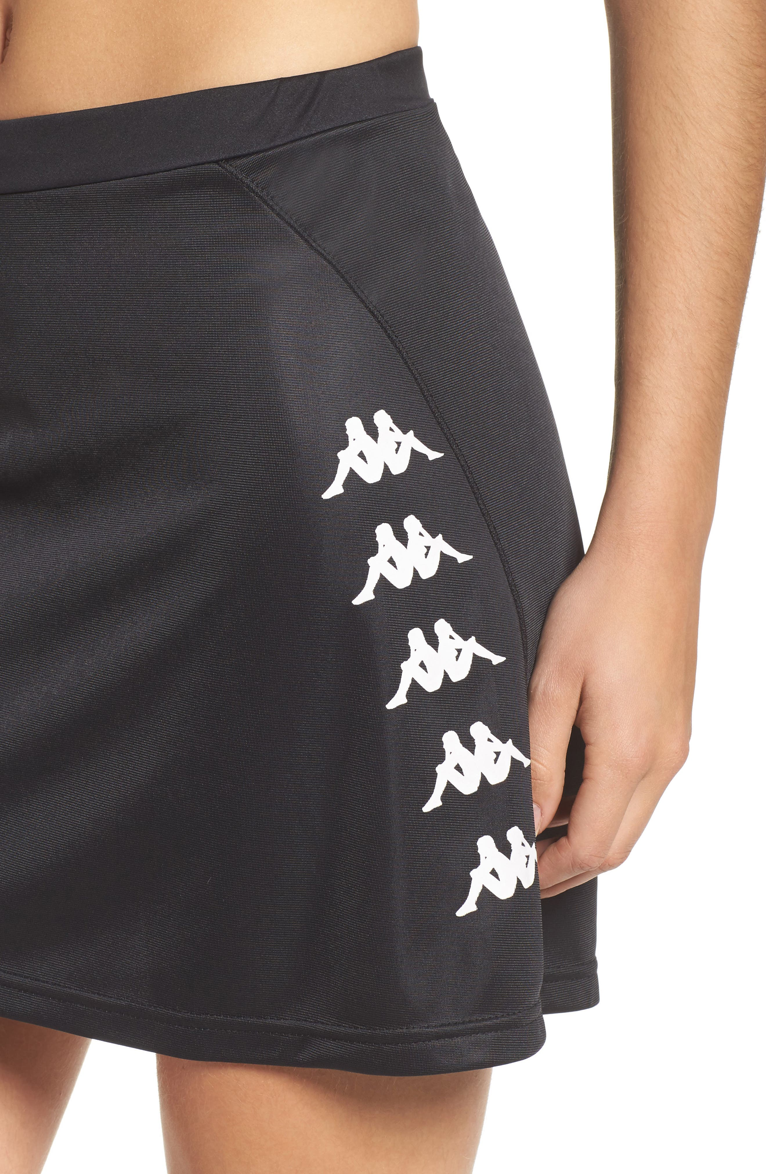 Authentic Piqué Skirt,                             Alternate thumbnail 4, color,                             001