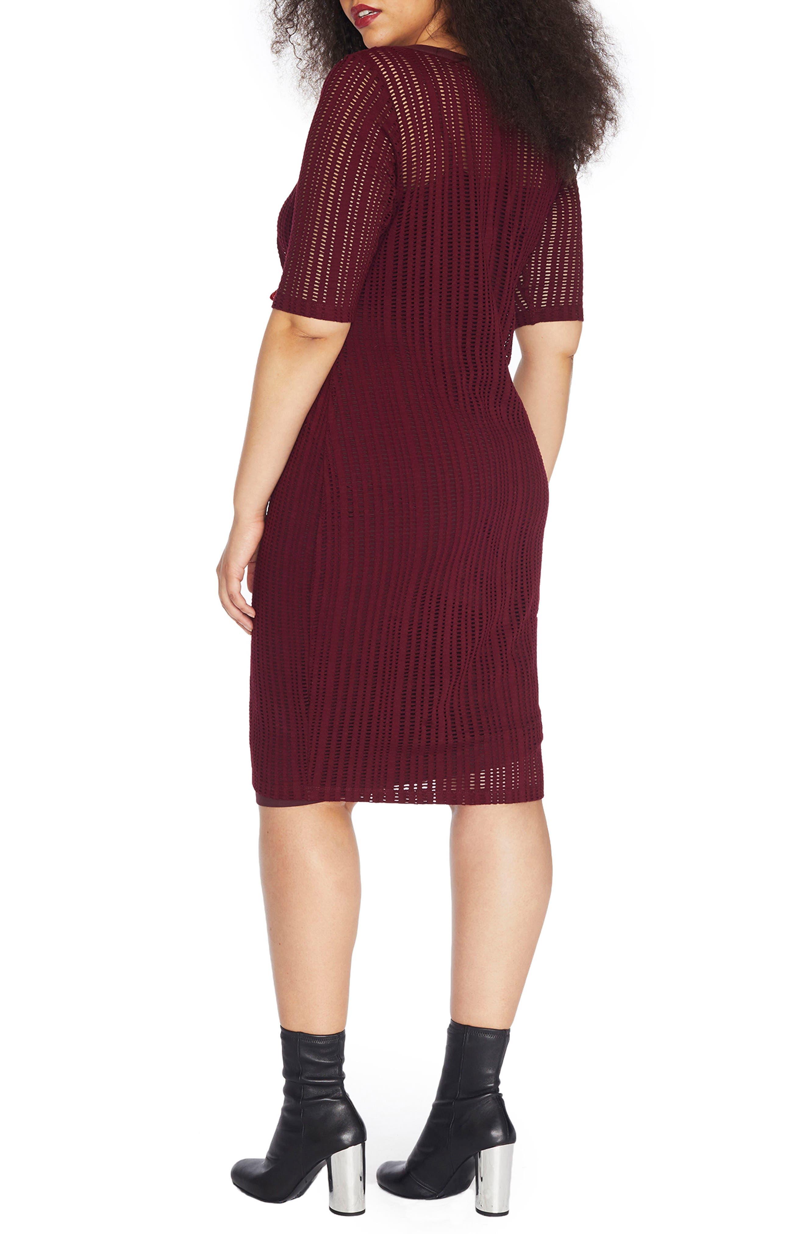 Stretch Jacquard Sheath Dress,                             Alternate thumbnail 4, color,