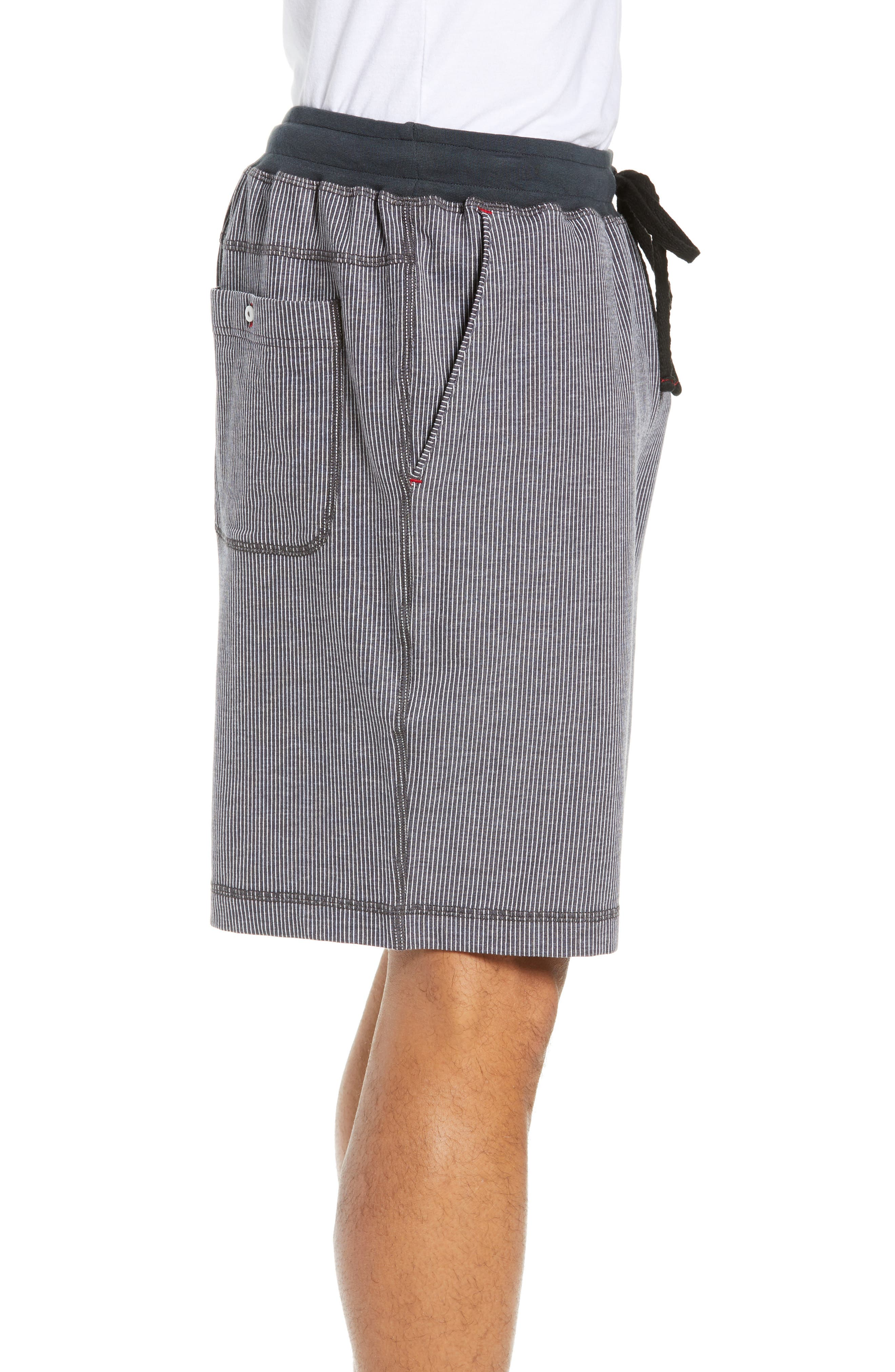 Pinstripe Shorts,                             Alternate thumbnail 3, color,                             CHARCOAL