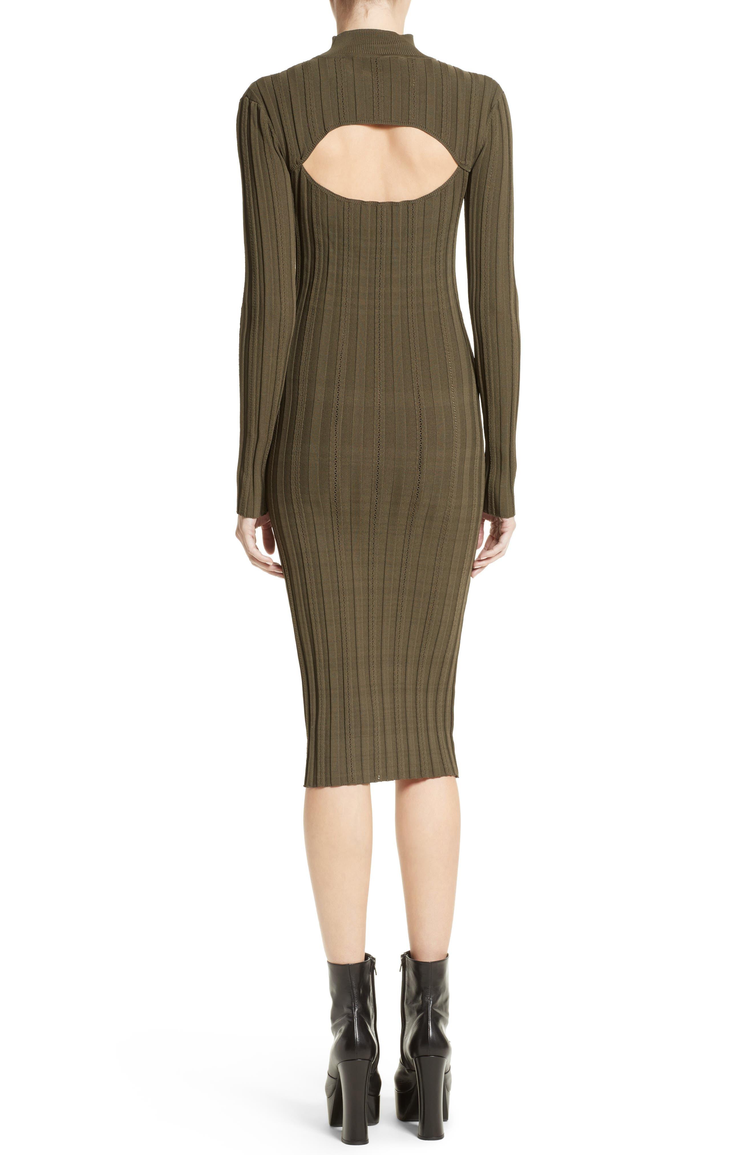 Cutout Knit Dress,                             Alternate thumbnail 2, color,                             341