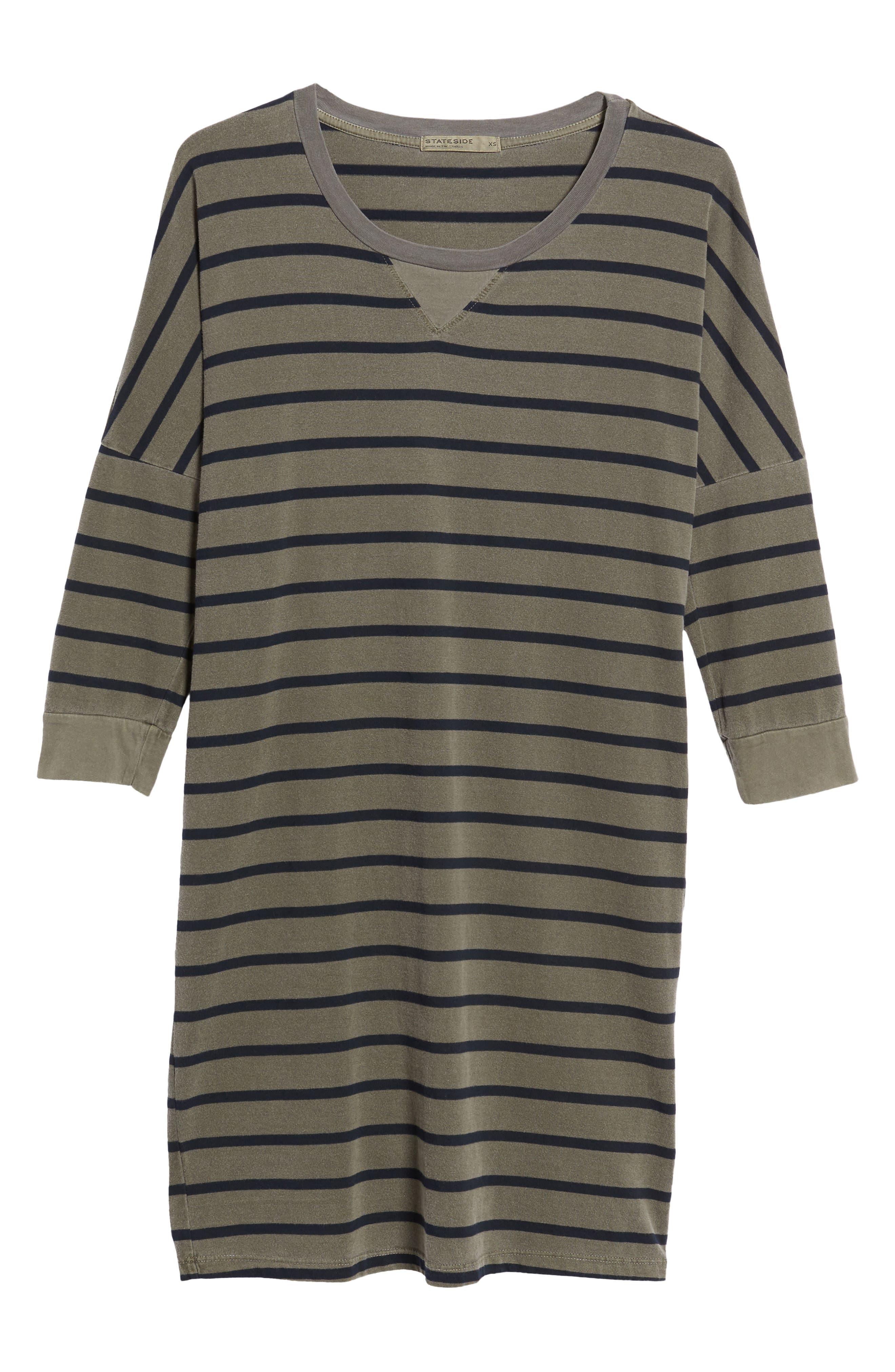 Stripe T-Shirt Dress,                             Alternate thumbnail 6, color,                             300