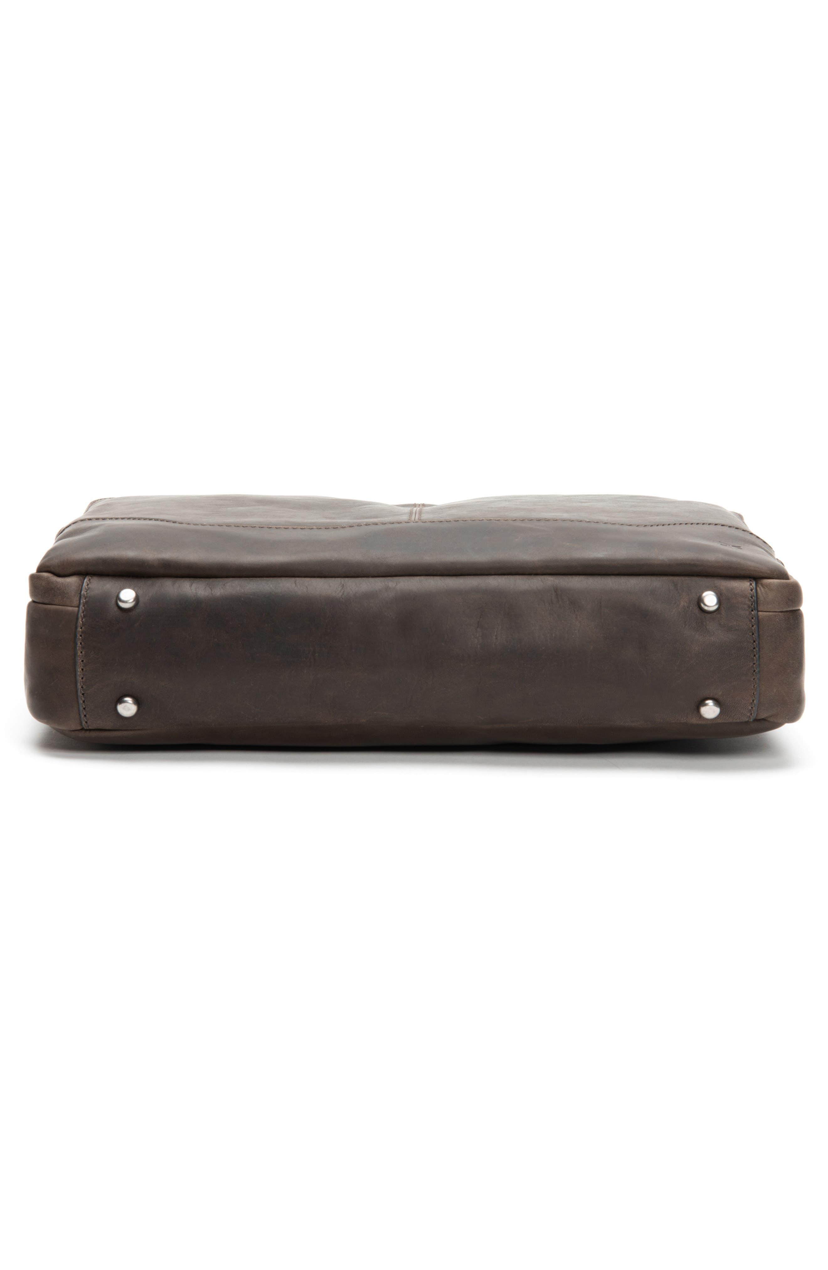 Logan Leather Briefcase,                             Alternate thumbnail 6, color,                             SLATE
