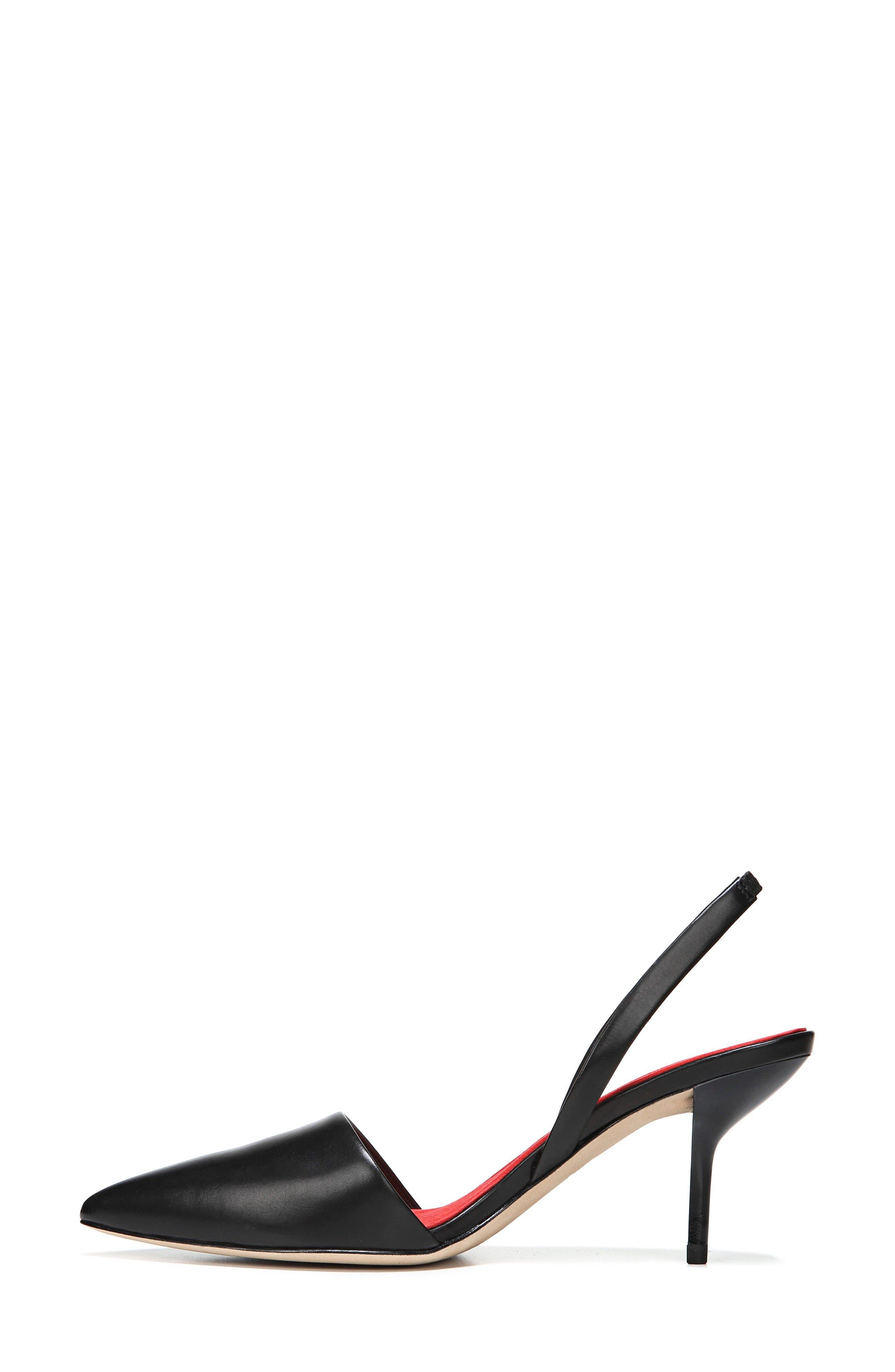 Mortelle Genuine Calf Hair d'Orsay Pump,                             Alternate thumbnail 3, color,                             001