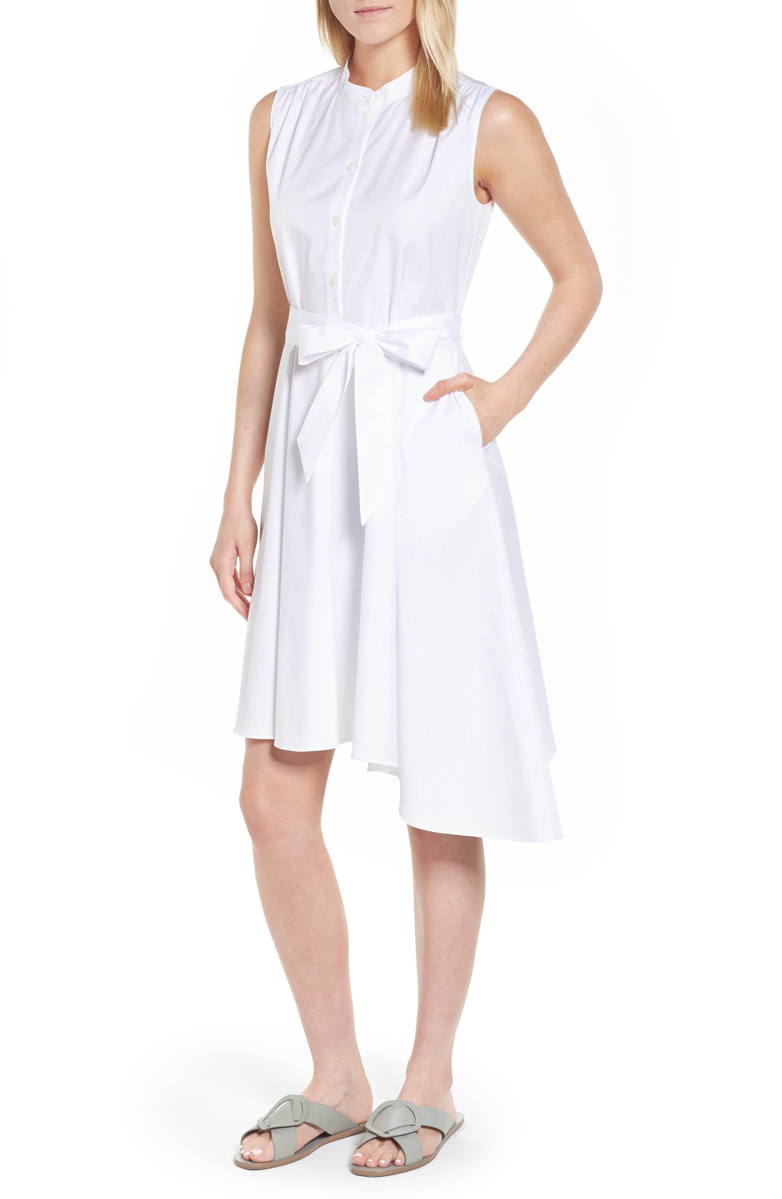 Asymmetrical Shirtdress,                         Main,                         color, 100