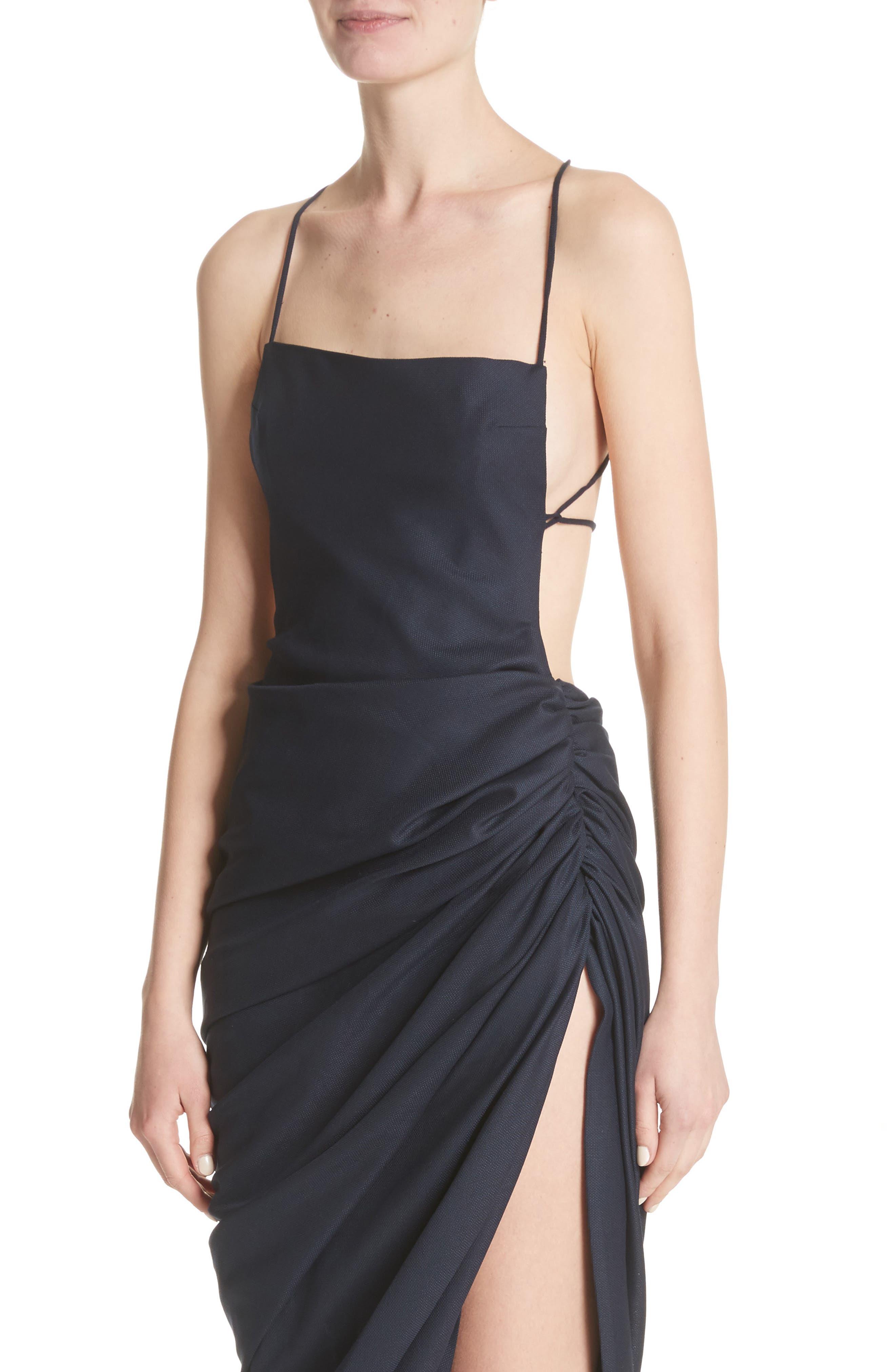 La Robe Saudade Longue Dress,                             Alternate thumbnail 4, color,