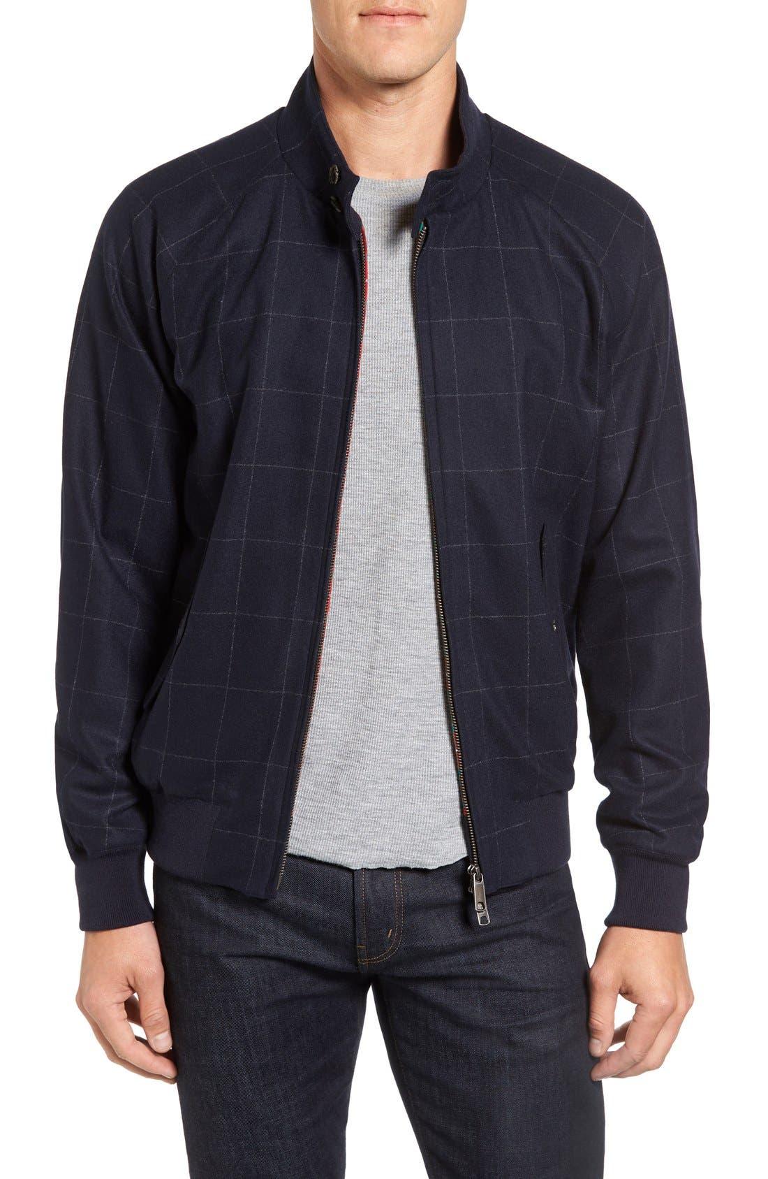Wool G9 Harrington Jacket,                             Main thumbnail 1, color,                             462