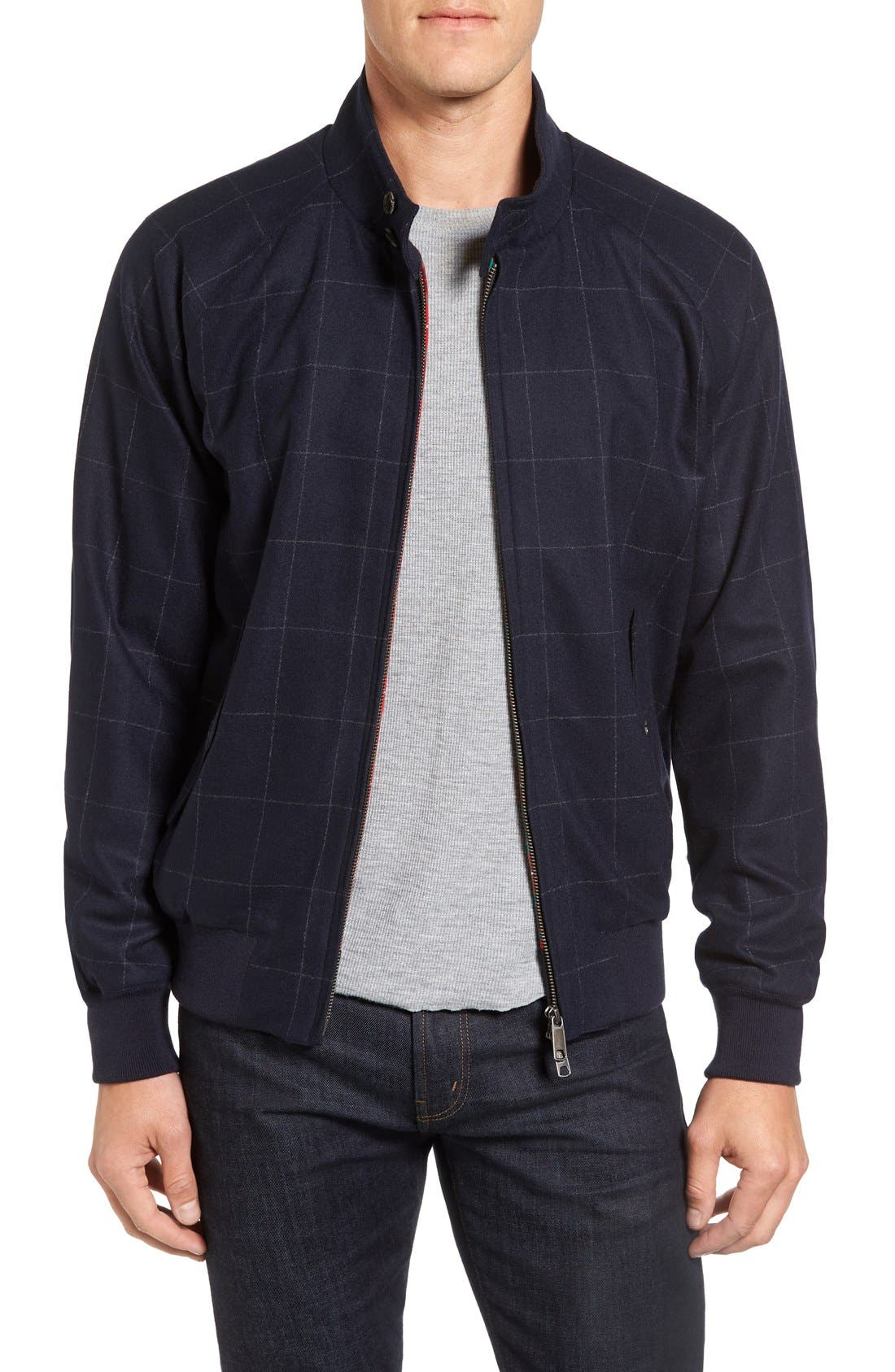 Wool G9 Harrington Jacket, Main, color, 462