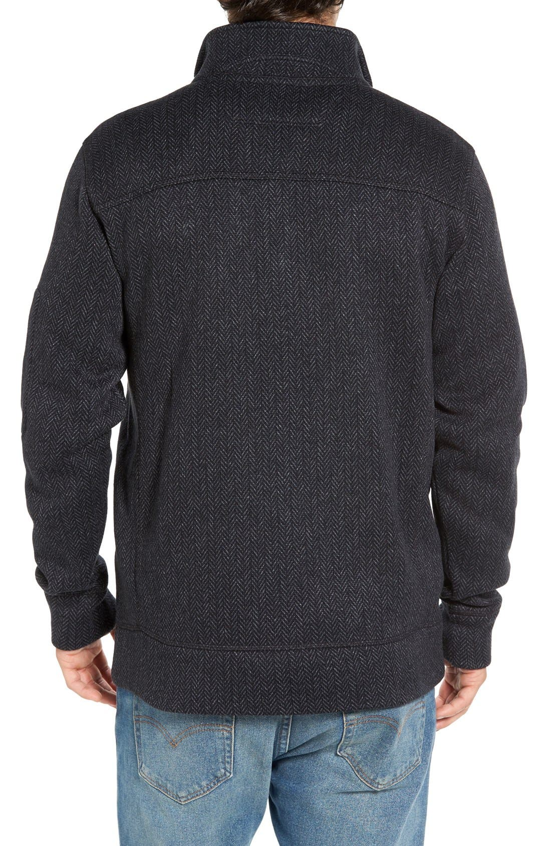 Lance Herringbone Zip Mock Neck Sweater,                             Alternate thumbnail 8, color,