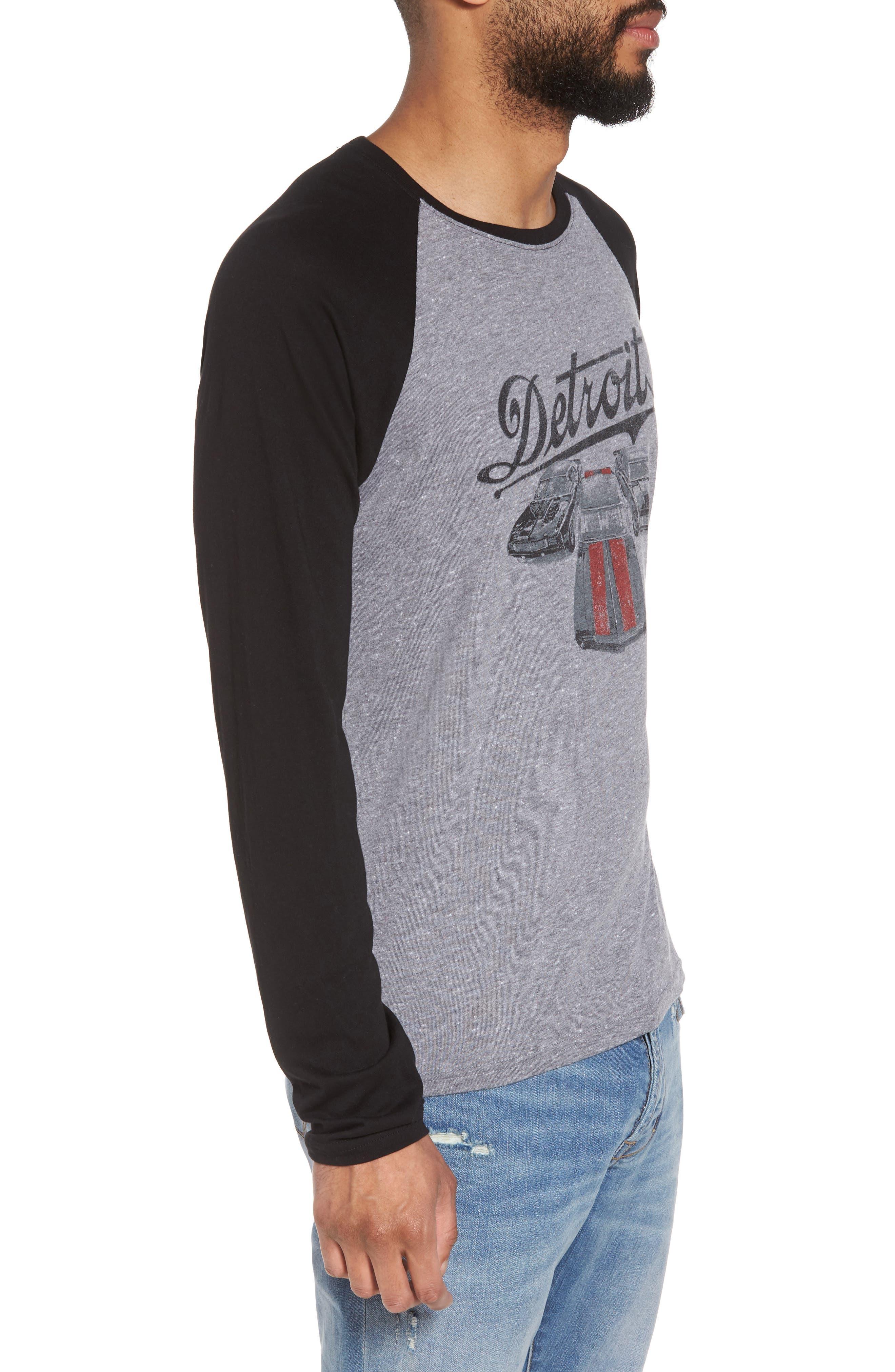 Detroit Cars Baseball T-Shirt,                             Alternate thumbnail 3, color,                             073