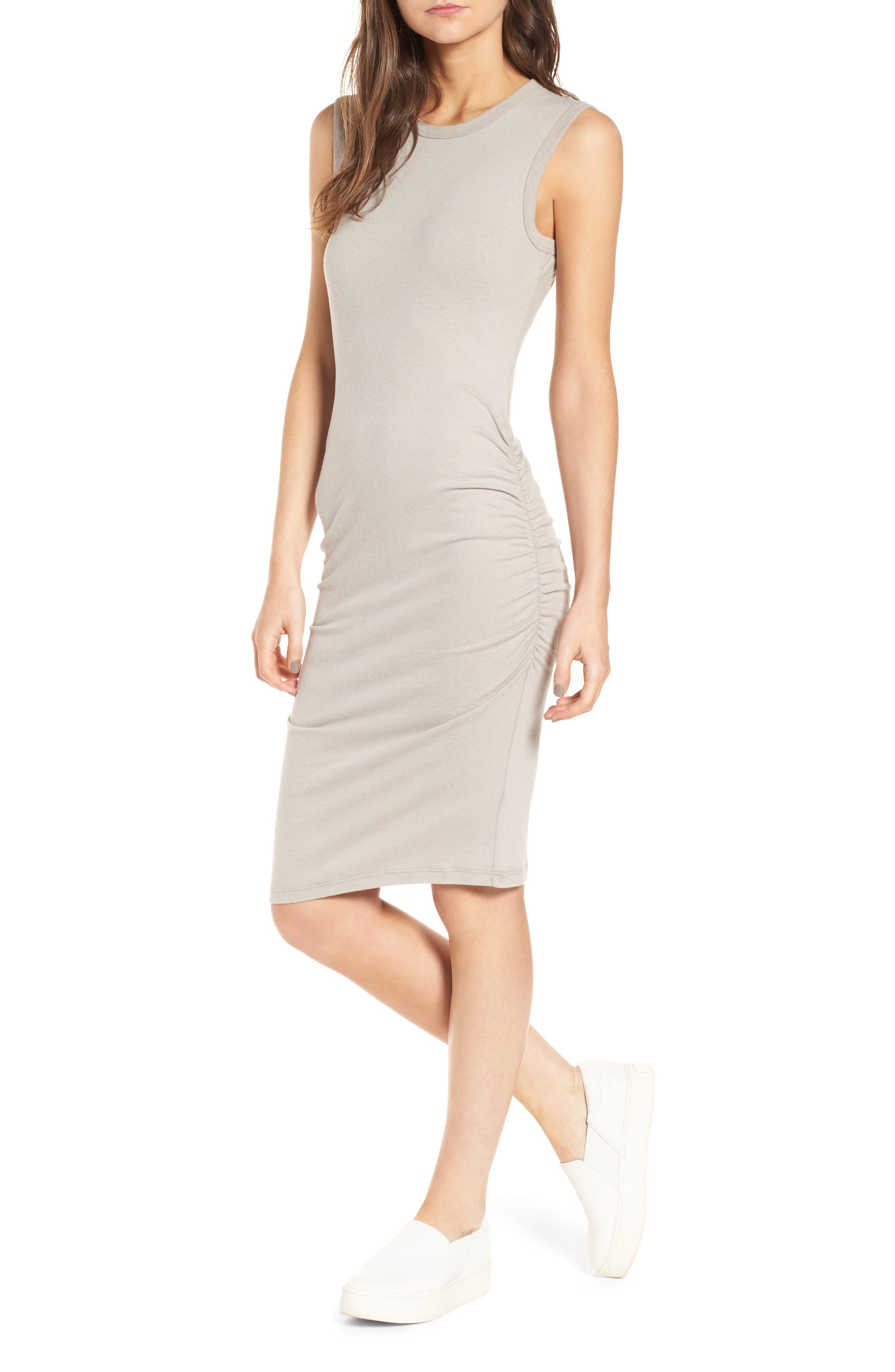 Ruched Tank Dress,                             Alternate thumbnail 2, color,                             085