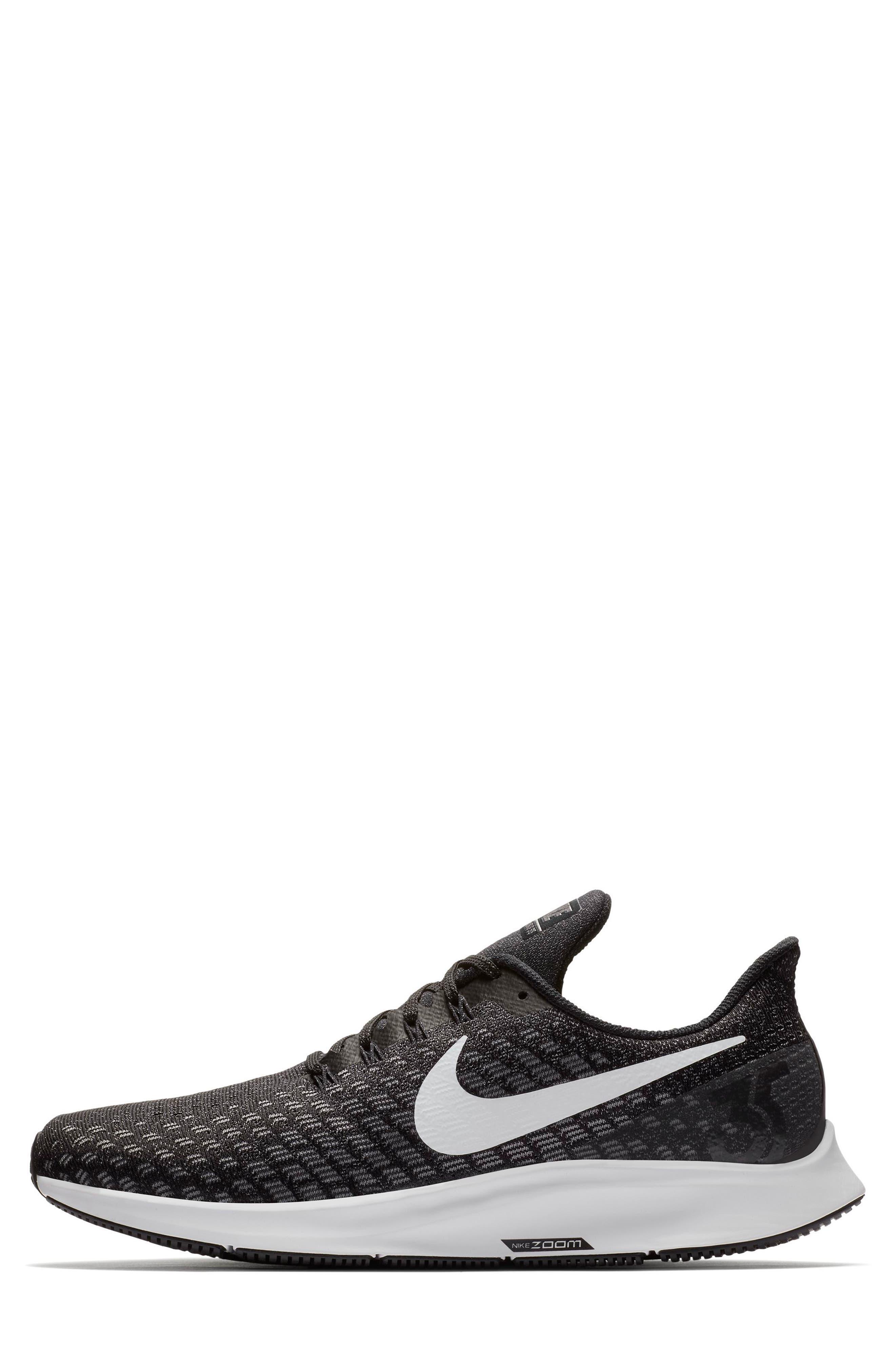 Air Zoom Pegasus 35 Running Shoe,                             Alternate thumbnail 6, color,                             BLACK/ WHITE/ BLACK