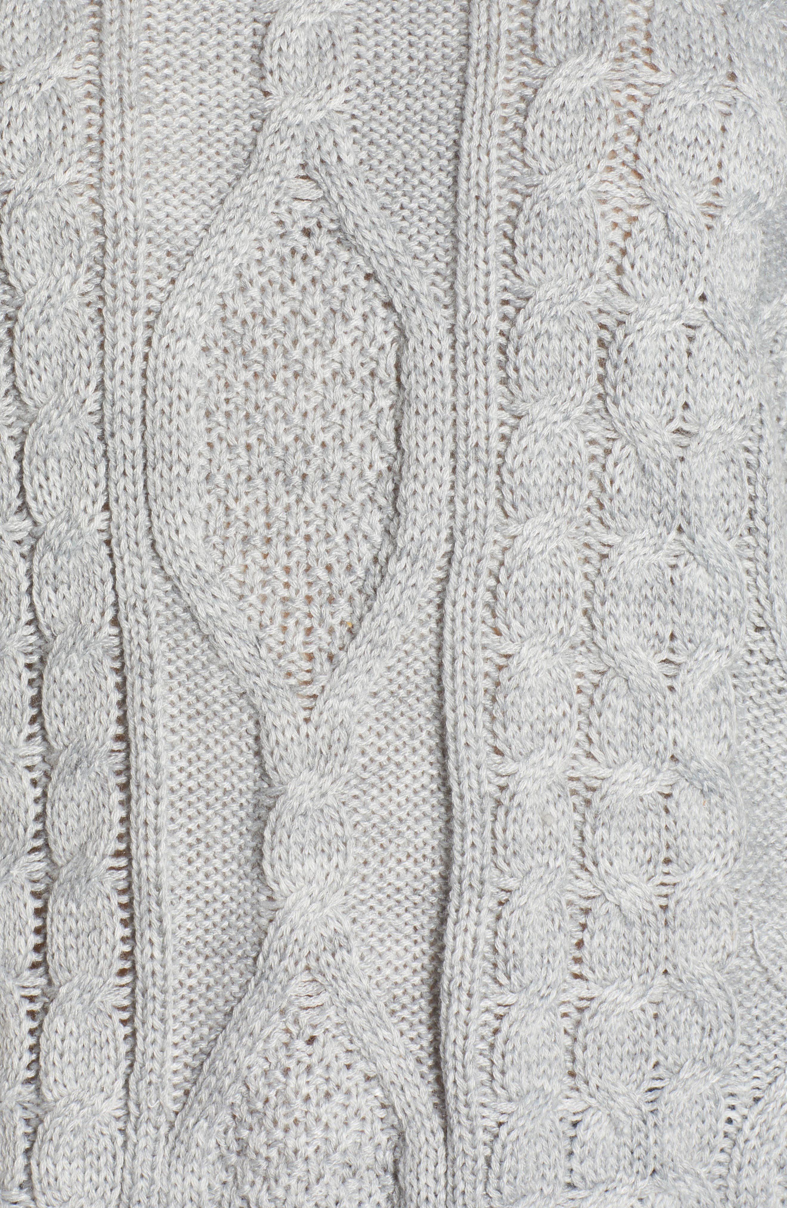Dusk Till Dawn Cable Sweater,                             Alternate thumbnail 5, color,                             GREY