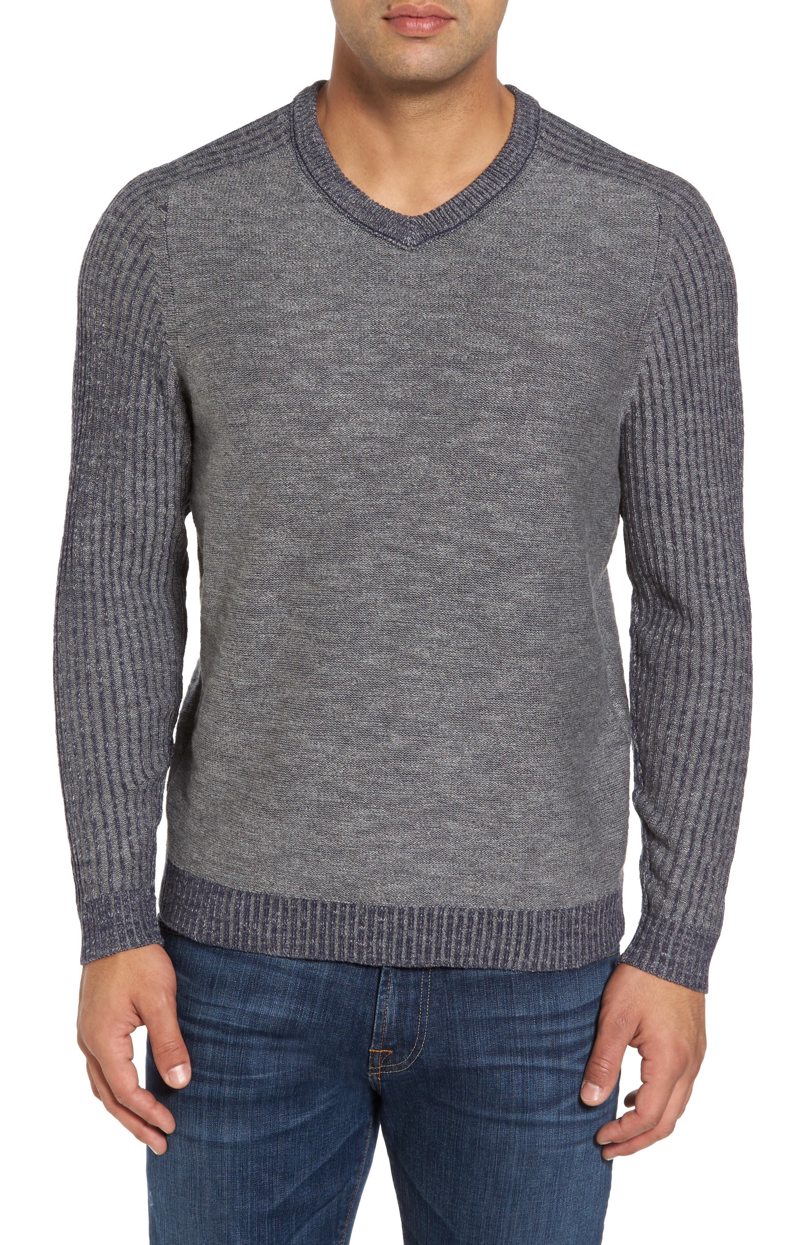 Gran Rey Flip Reversible Cotton & Wool Sweater,                             Alternate thumbnail 7, color,