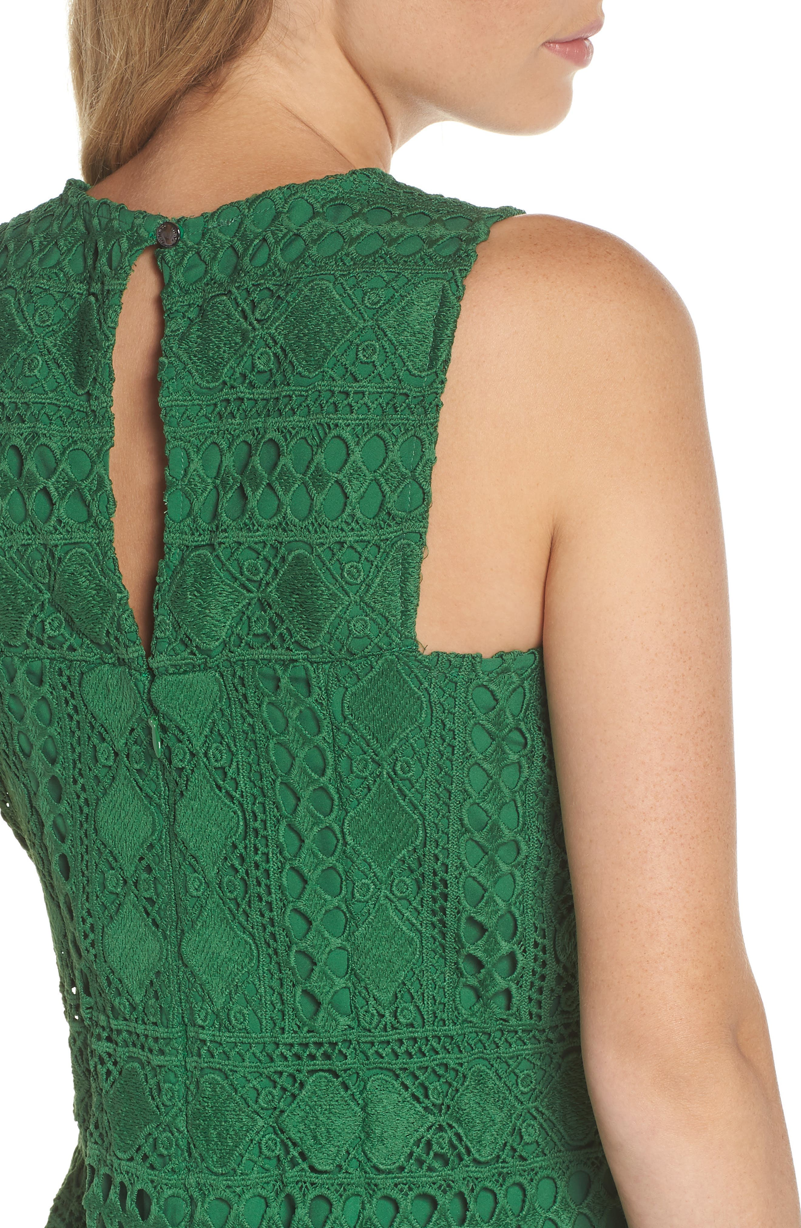 Lace Sheath Dress,                             Alternate thumbnail 4, color,                             310