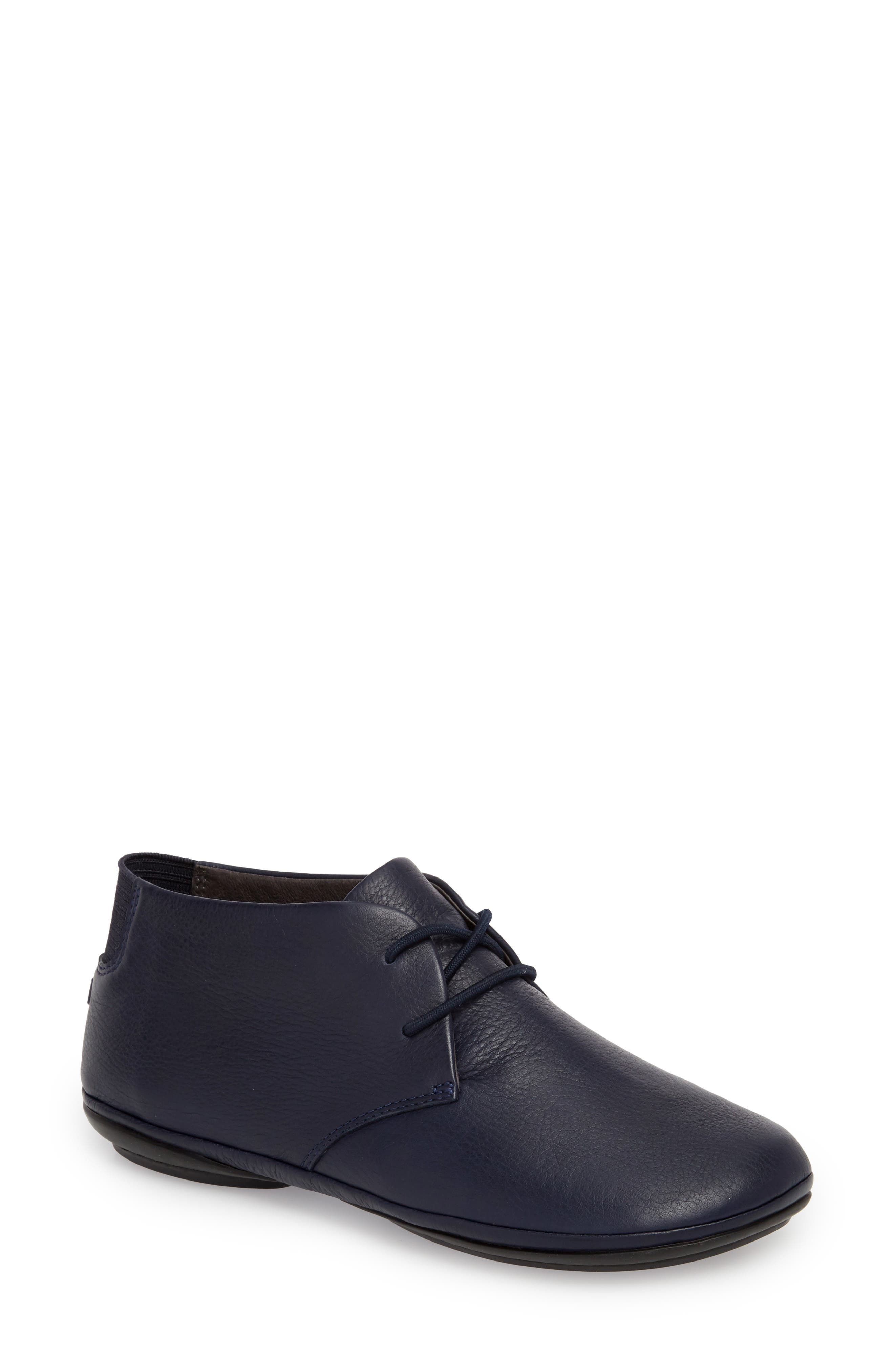 Right Nina Desert Boot,                         Main,                         color, NAVY LEATHER