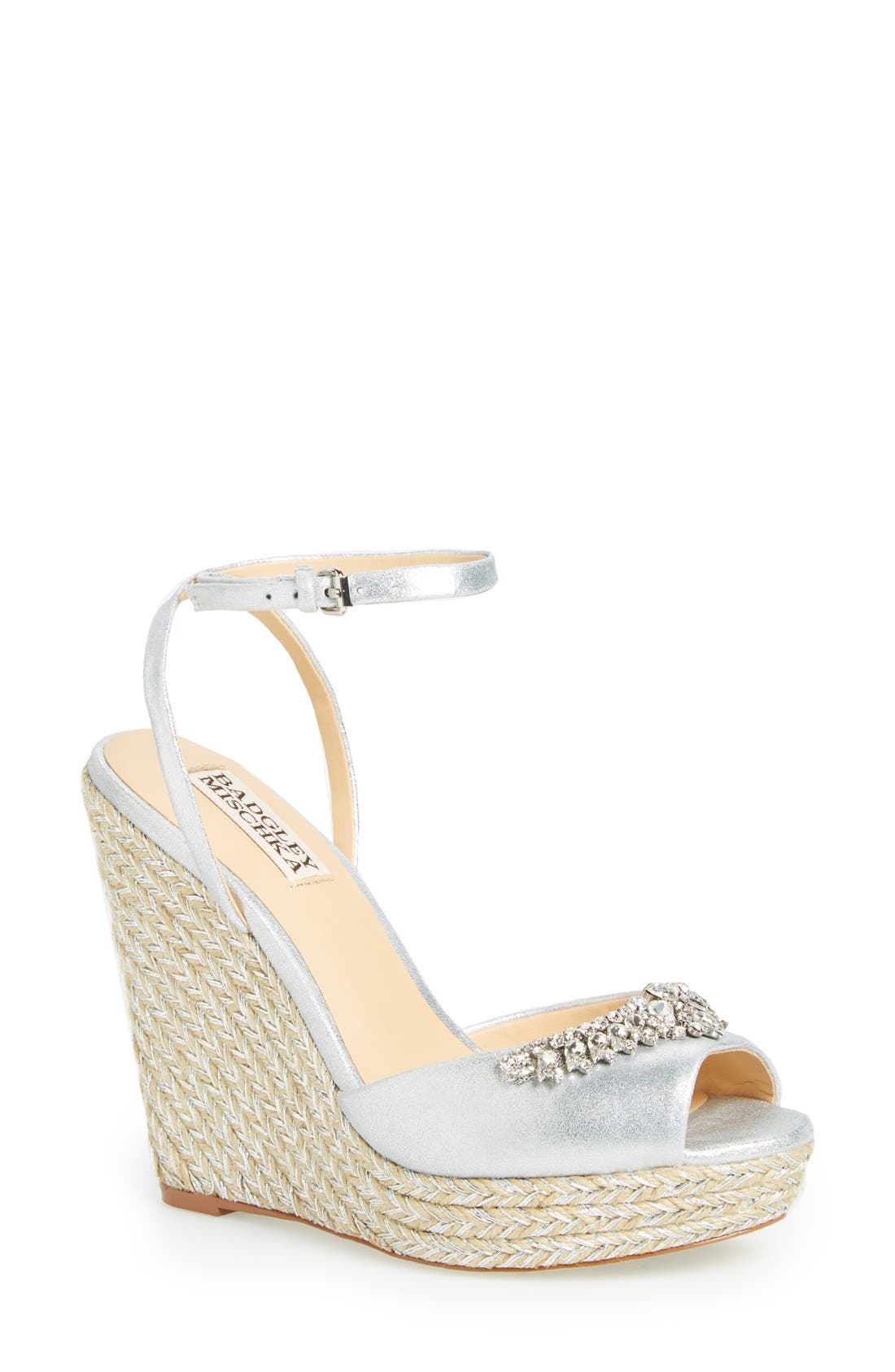 'Annabel' Crystal Embellished Wedge,                             Main thumbnail 1, color,                             040