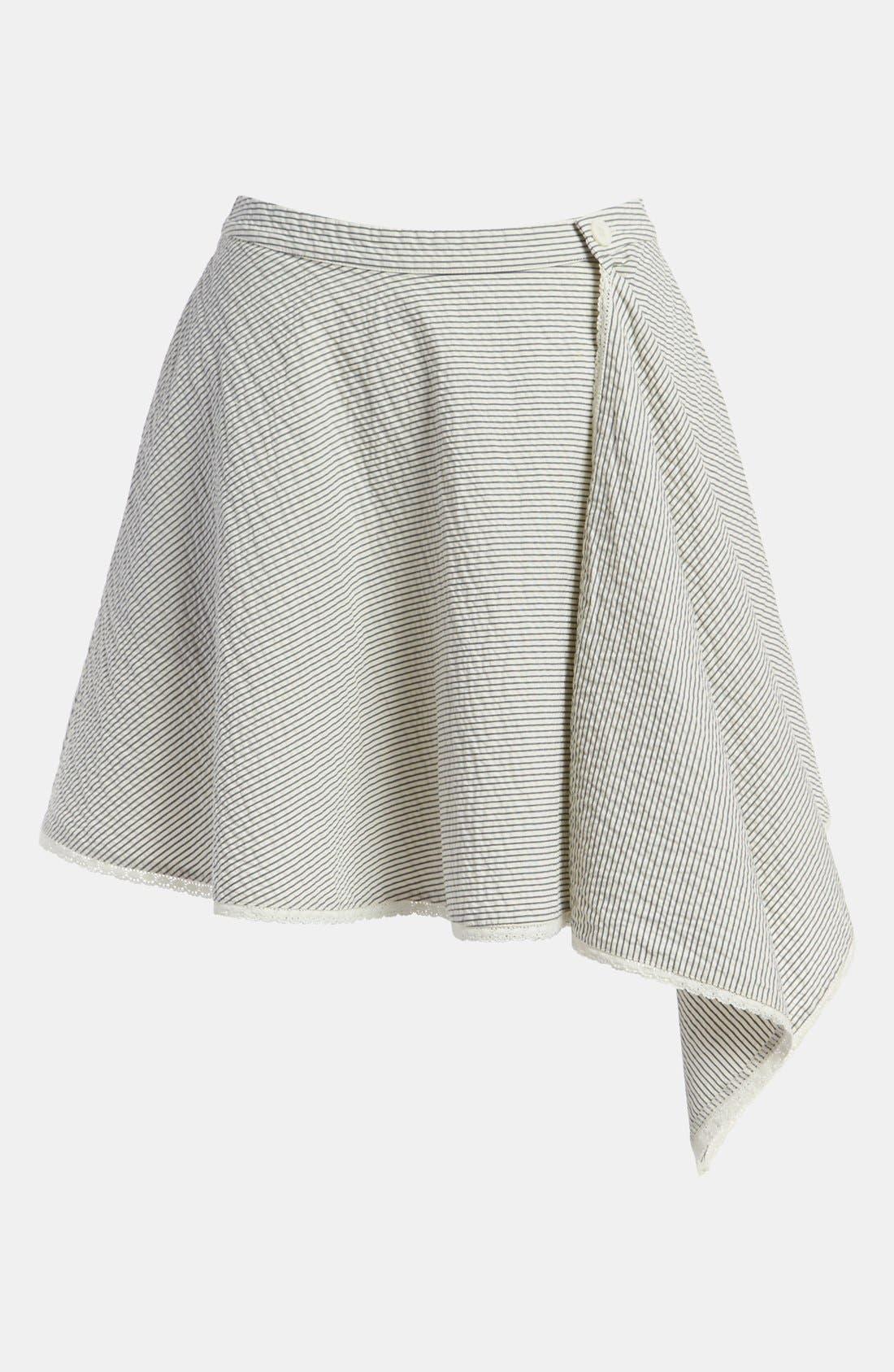 Stripe Wrap Skirt, Main, color, 260