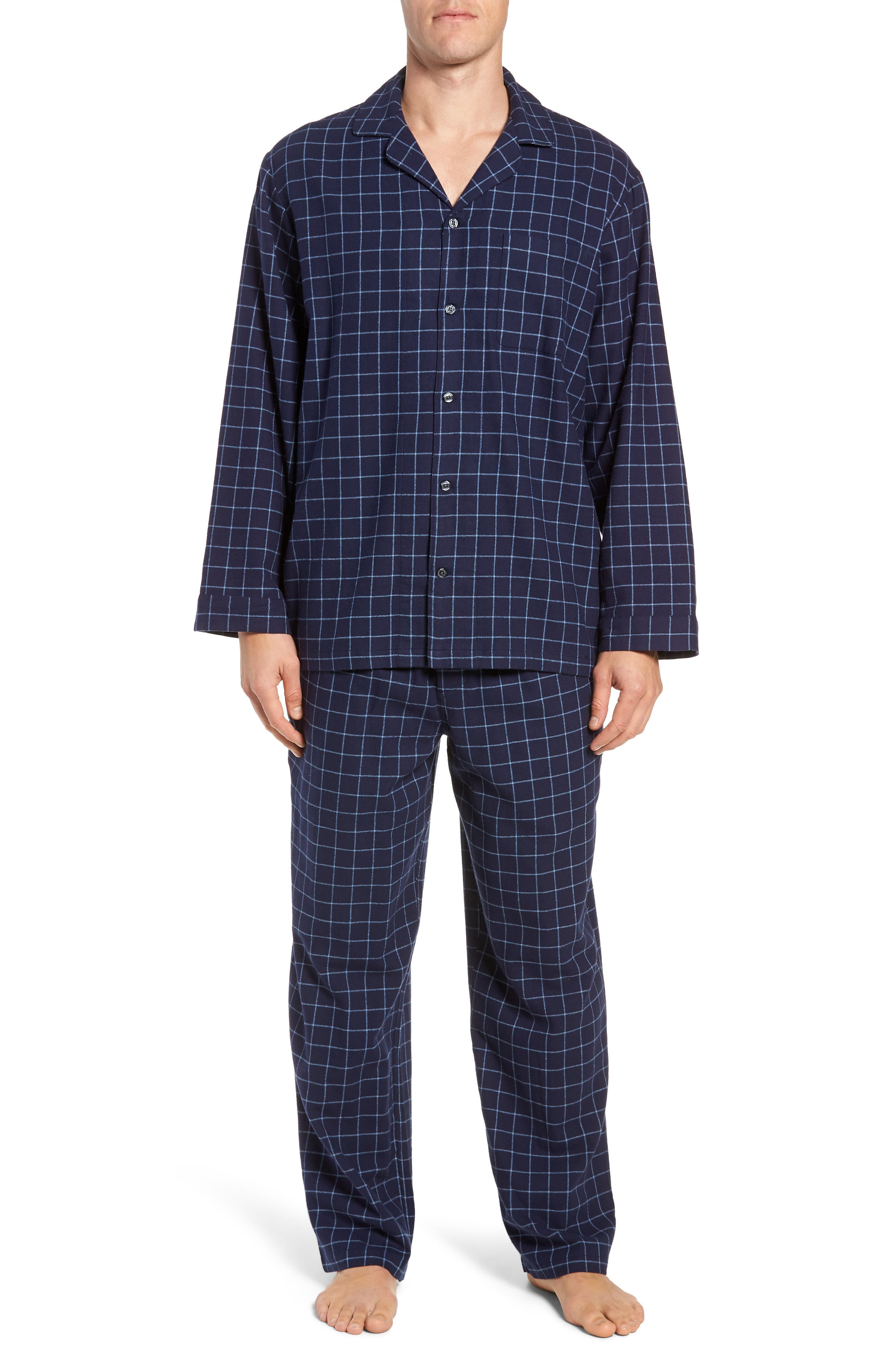 '824' Flannel Pajama Set,                             Main thumbnail 8, color,