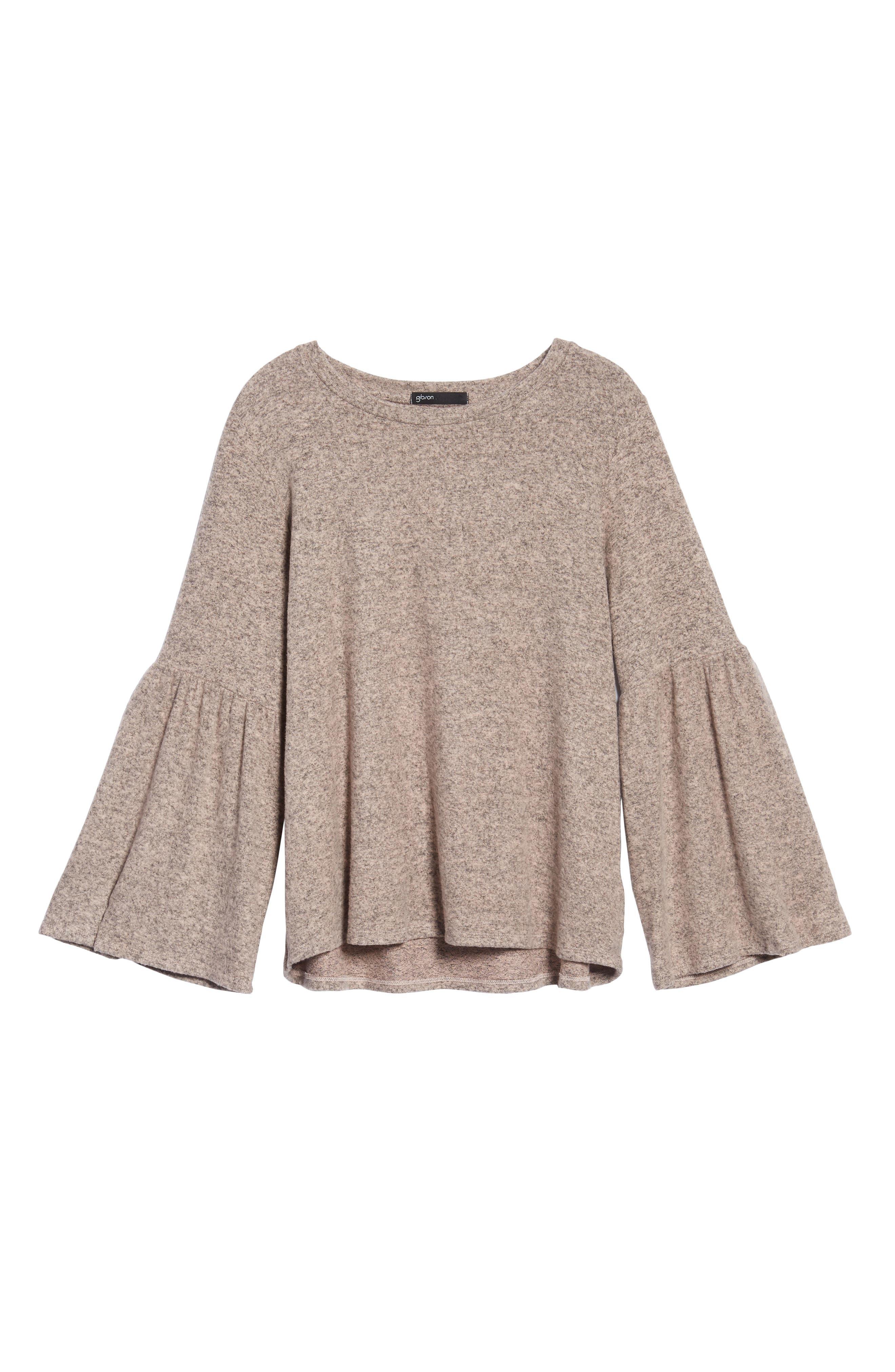 Bell Sleeve Cozy Fleece Pullover,                             Alternate thumbnail 66, color,