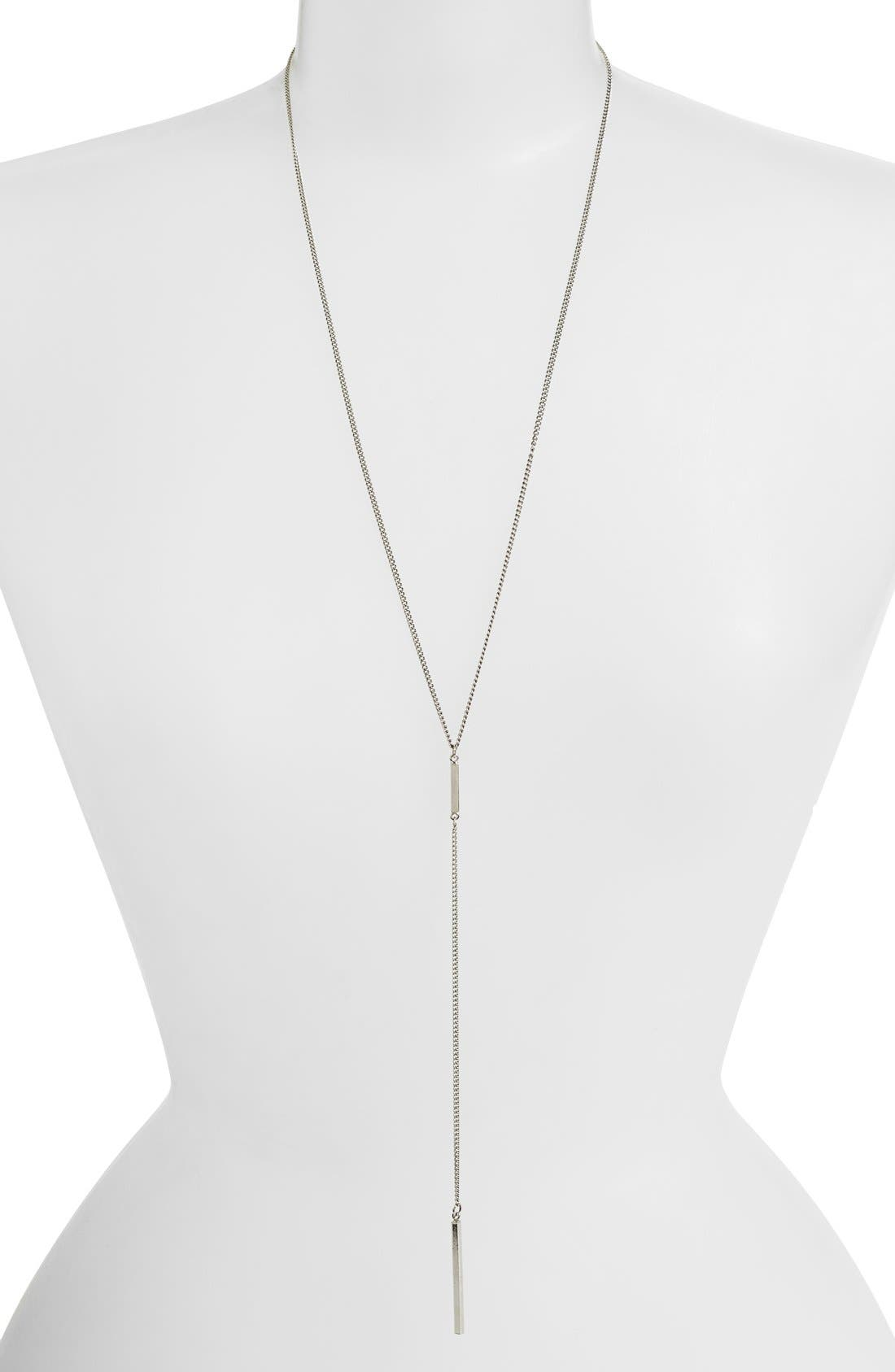Bar Lariat Necklace, Main, color, 040