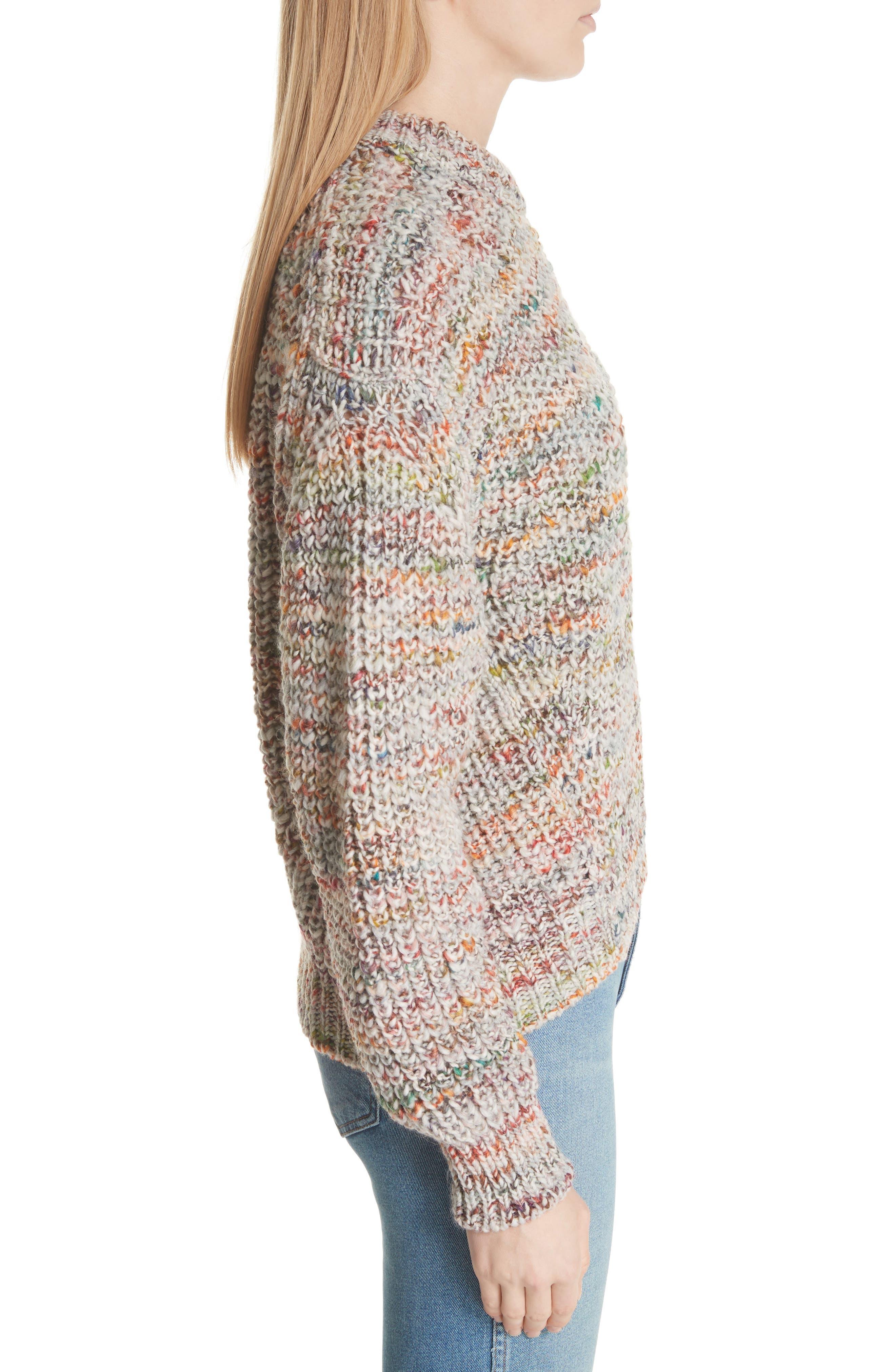 Zora Multi Sweater,                             Alternate thumbnail 3, color,                             100