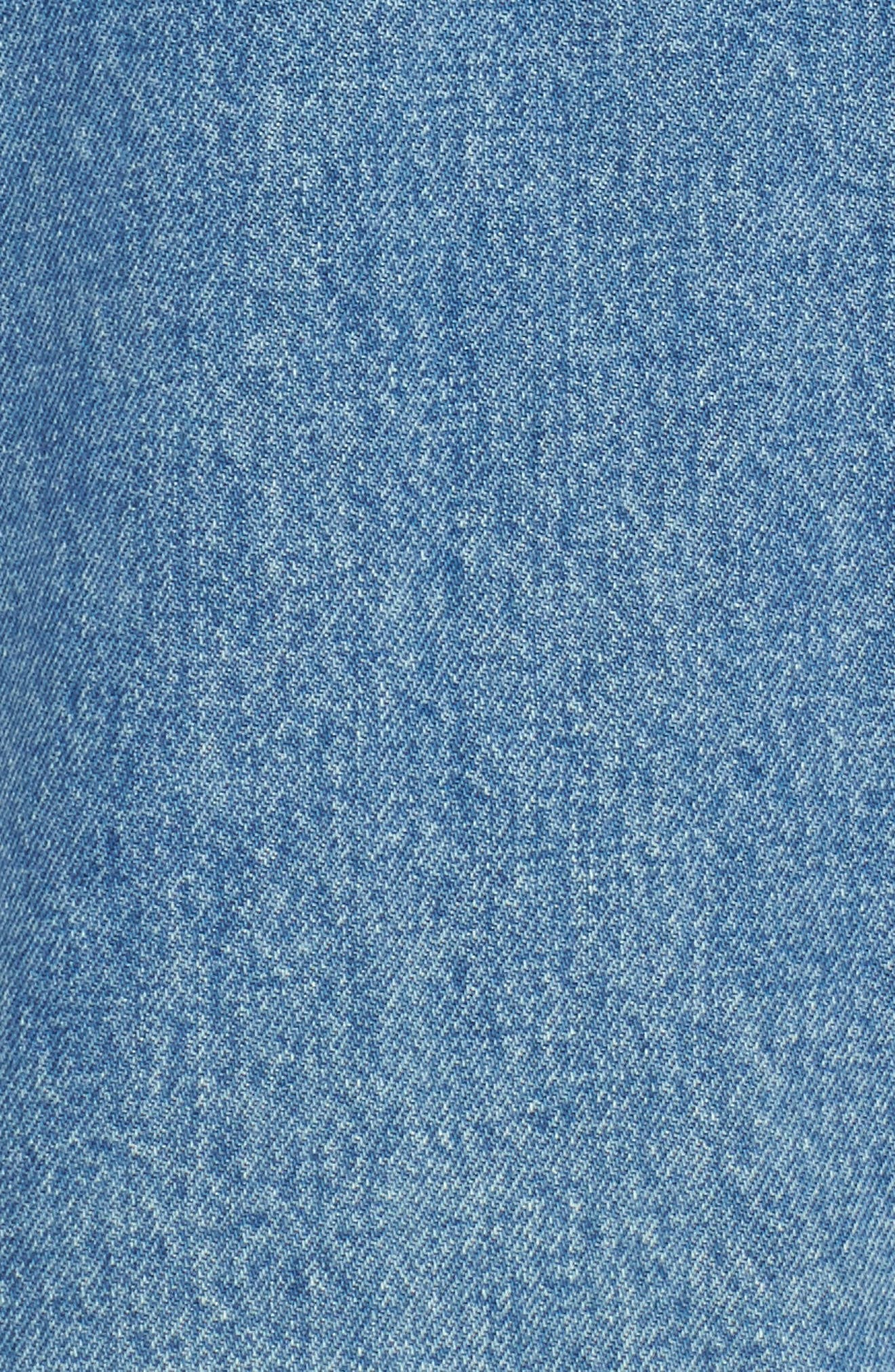LEVI'S<SUP>®</SUP> MADE & CRAFTED<SUP>™</SUP>,                             Type III Pleated Denim Skirt,                             Alternate thumbnail 6, color,                             400