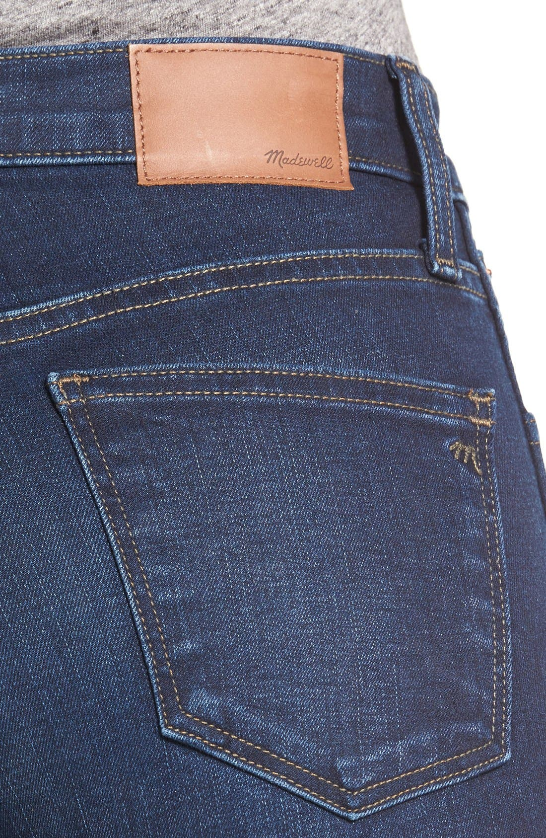 10-Inch High-Rise Skinny Jeans,                             Alternate thumbnail 14, color,                             HAYES WASH