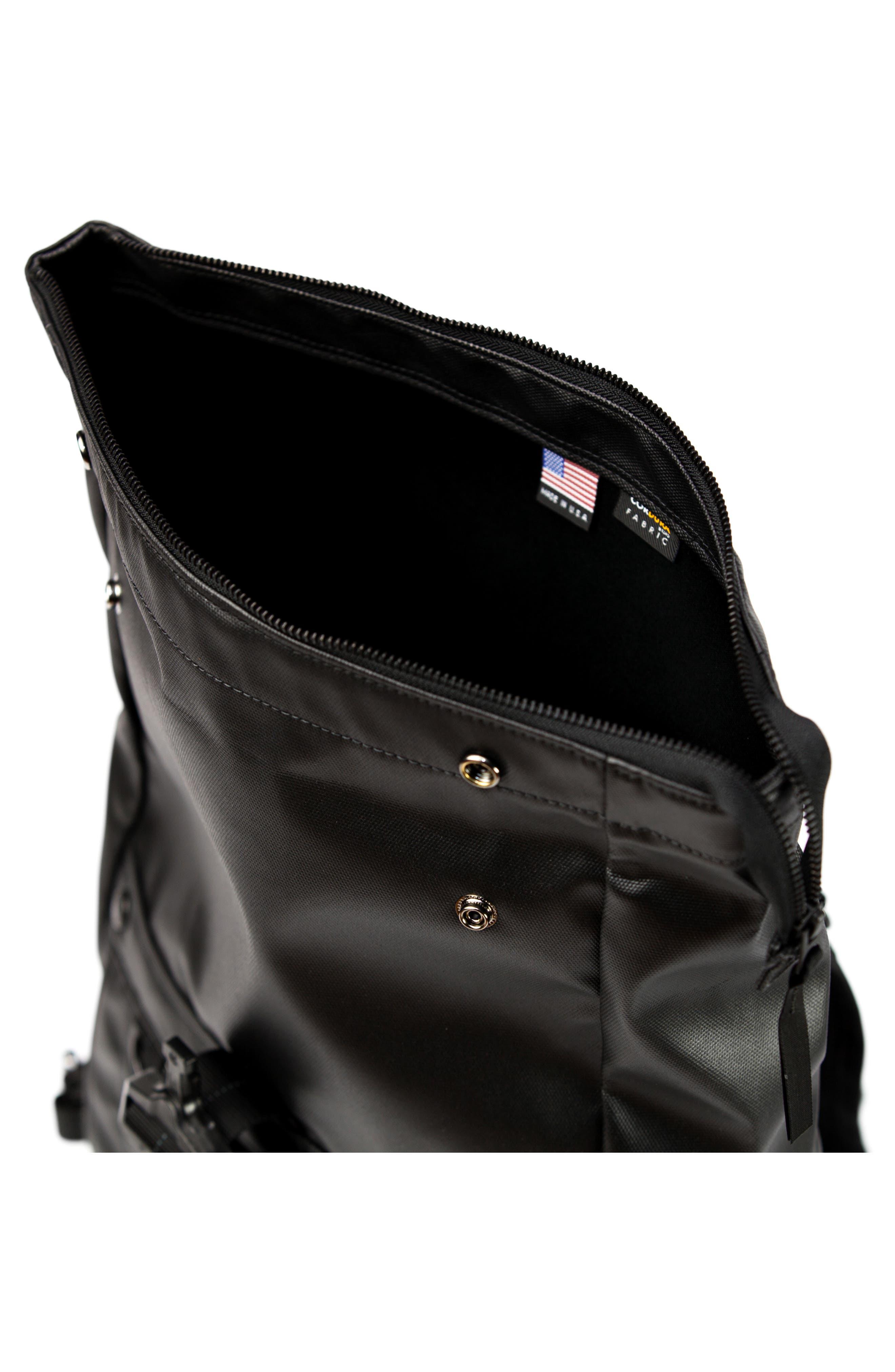 NightHawk Roll Top Backpack,                             Alternate thumbnail 4, color,                             BLACK