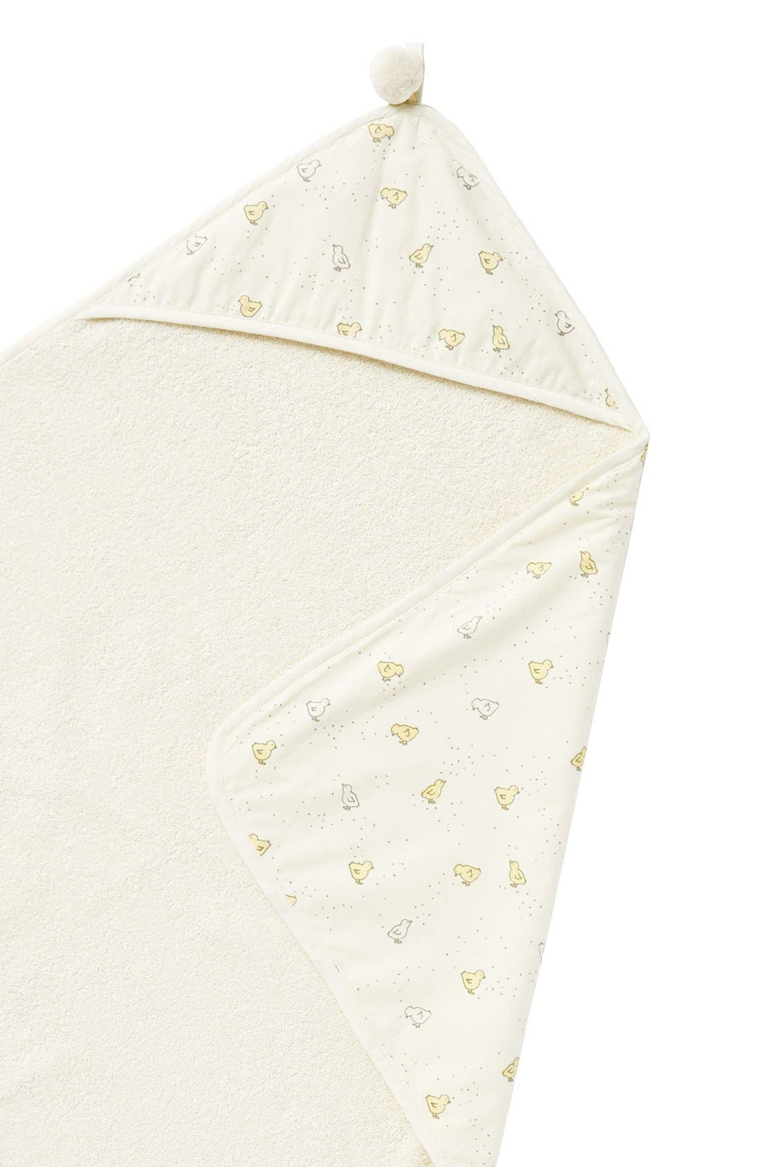 Baby Chick Print Hooded Towel,                             Alternate thumbnail 3, color,