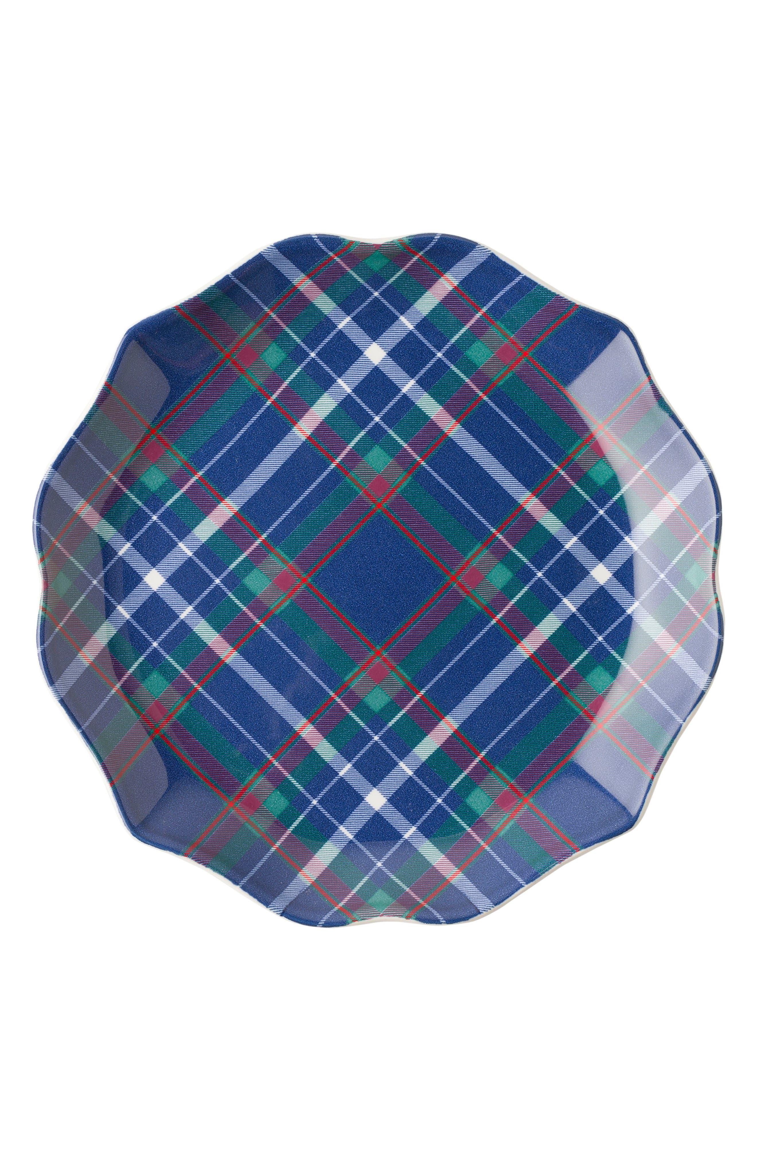 New Traditions - Tartan Tidbit Set of 4 Plates,                             Alternate thumbnail 4, color,                             400