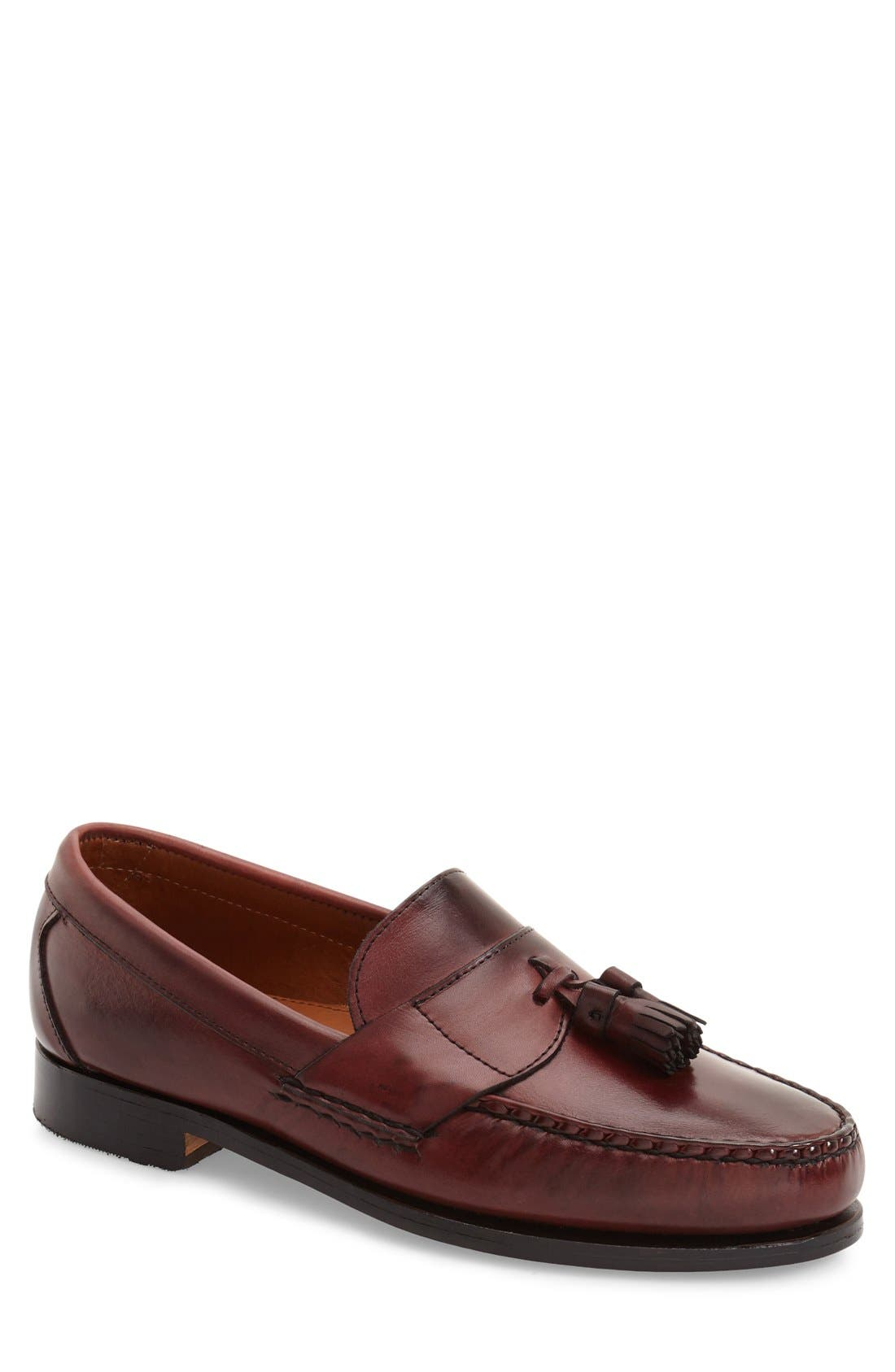 Tassel Penny Loafer,                             Main thumbnail 1, color,                             OXBLOOD