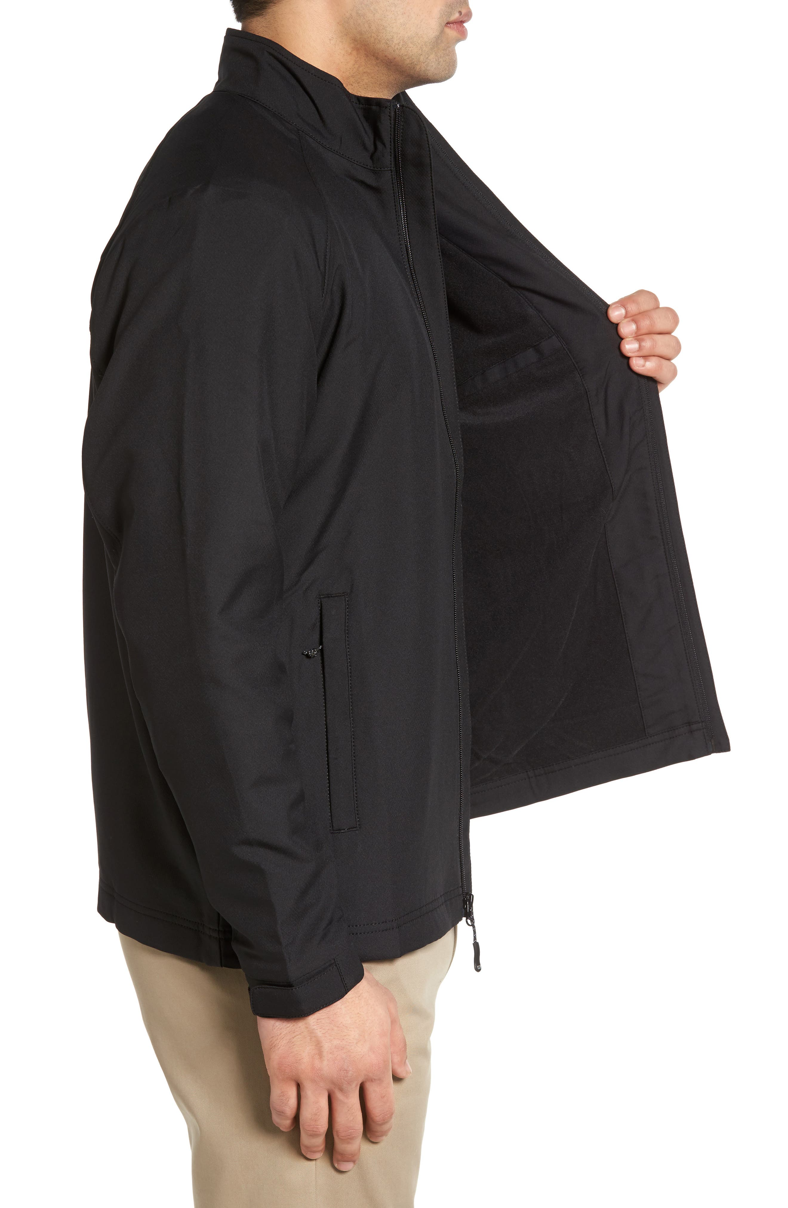 'Blakely' WeatherTec<sup>®</sup> Wind & Water Resistant Full Zip Jacket,                             Alternate thumbnail 4, color,                             BLACK