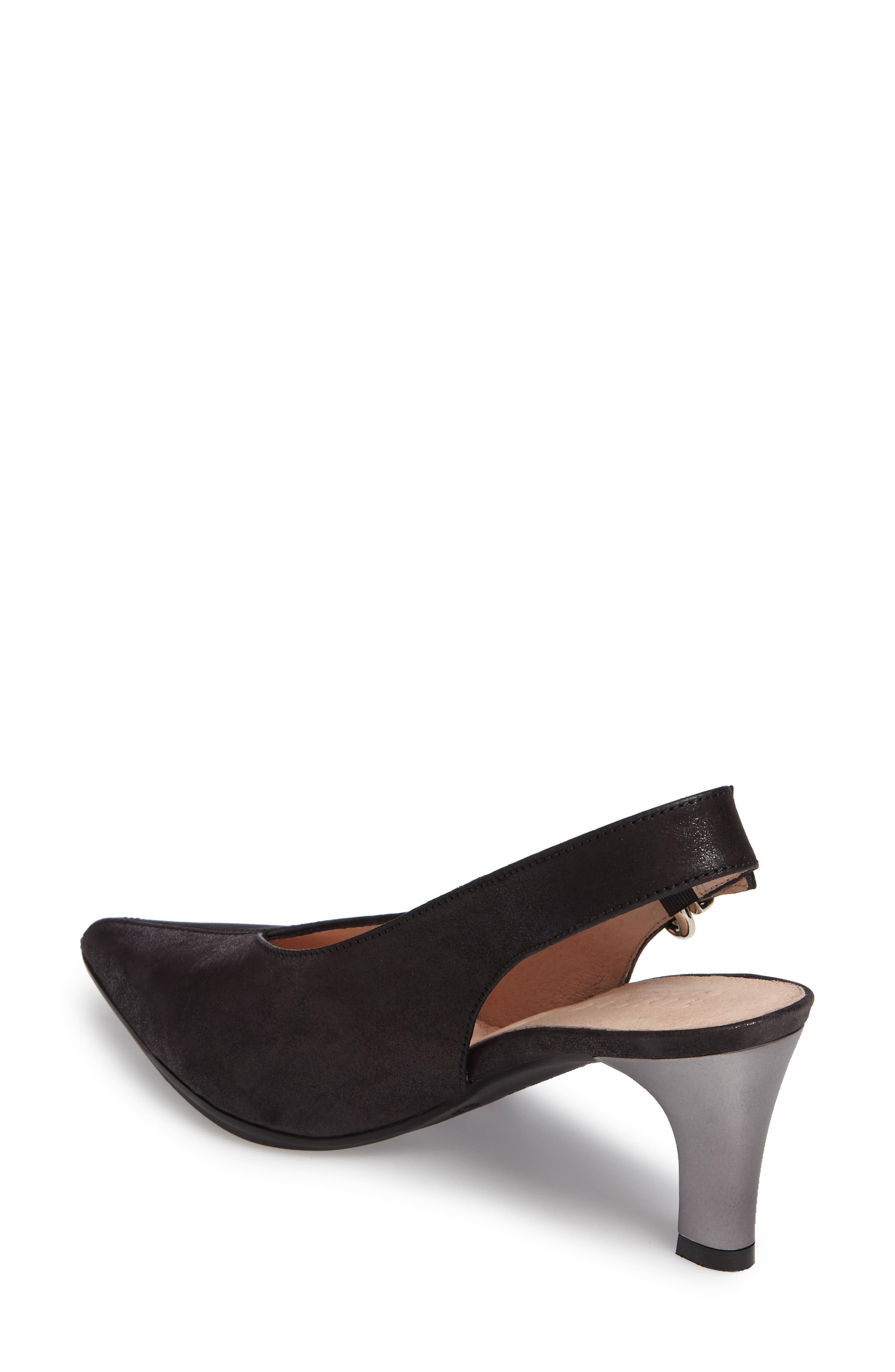 Honey Pointy Toe Slingback Pump,                             Alternate thumbnail 2, color,                             001