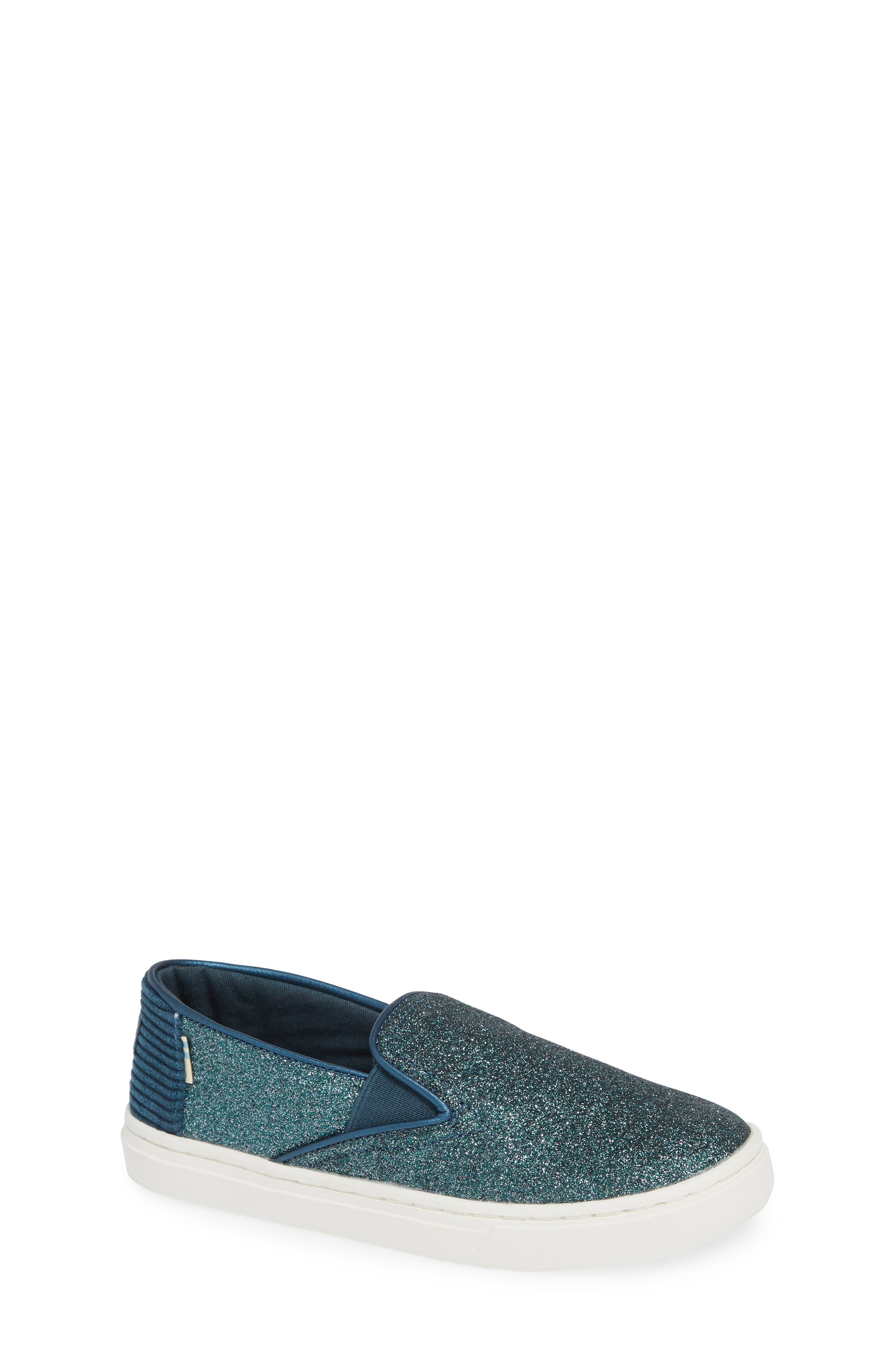 Luca Slip-On Sneaker,                             Main thumbnail 1, color,                             ATLANTIC IRIDESCENT/ CORDUROY